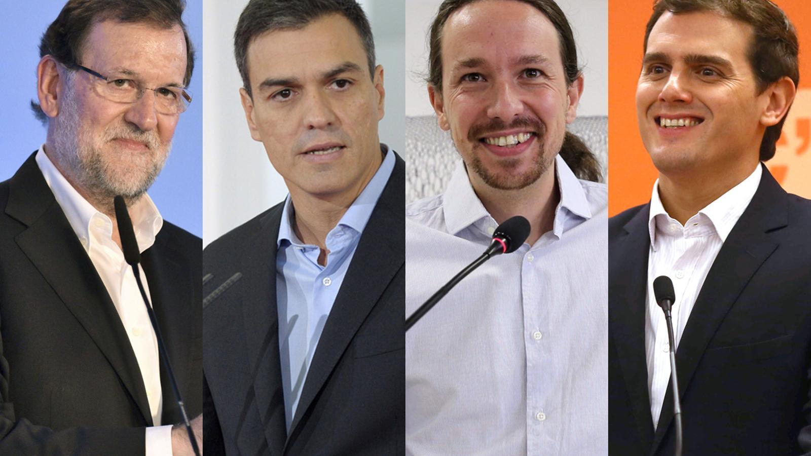 Mariano Rajoy, Pedro Sánchez, Pablo Iglesias i Albert Rivera