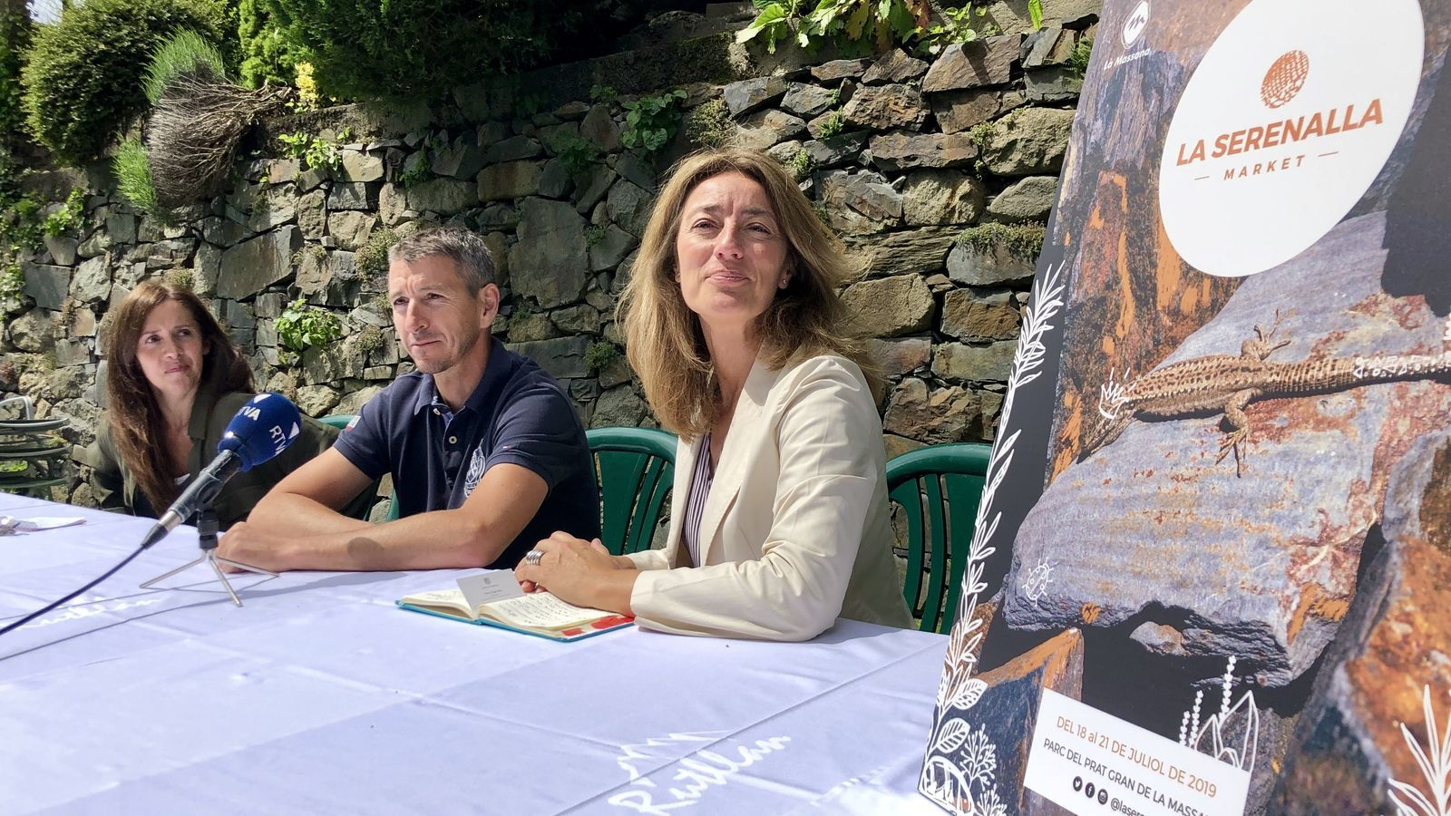 Els responsables de la Serenalla Market, durant la presentació de l'esdeveniment. / COMÚ DE LA MASSANA
