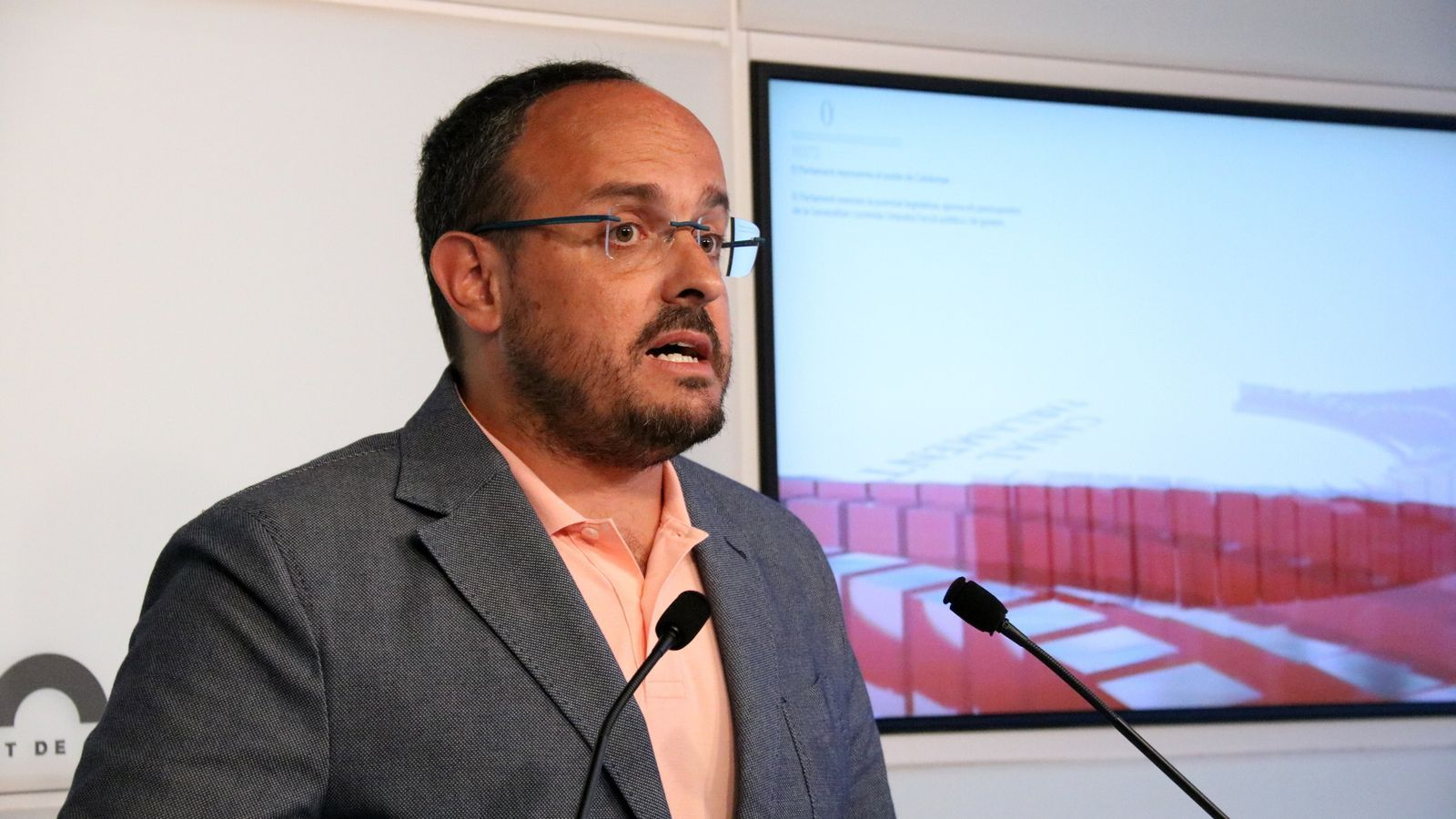 El portaveu del grup parlamentari del PP, Alejandro Fernández