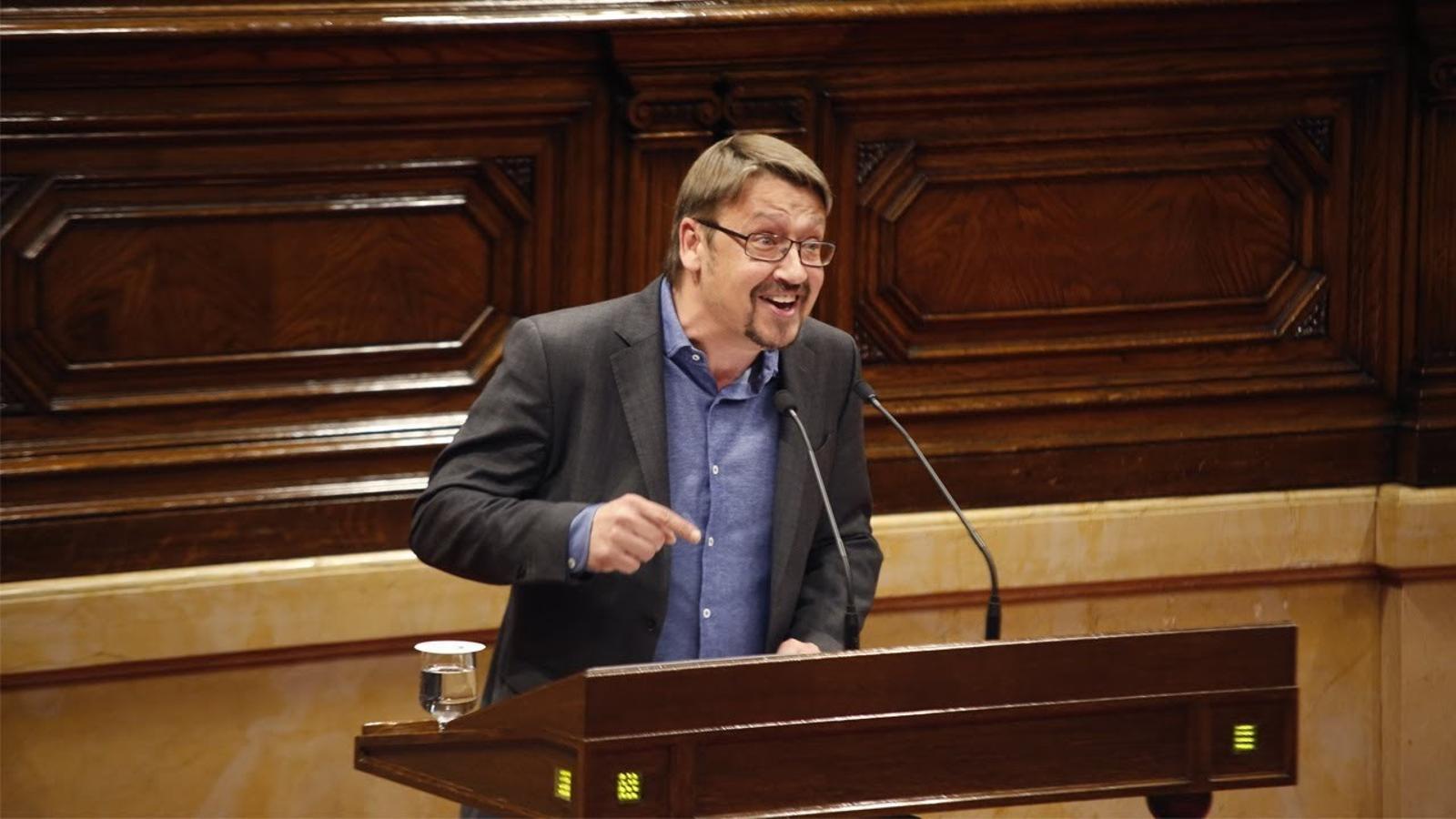 """Domènech: """"No hi ha cap tàctica més enllà de la reacció a un calendari judicial"""""""