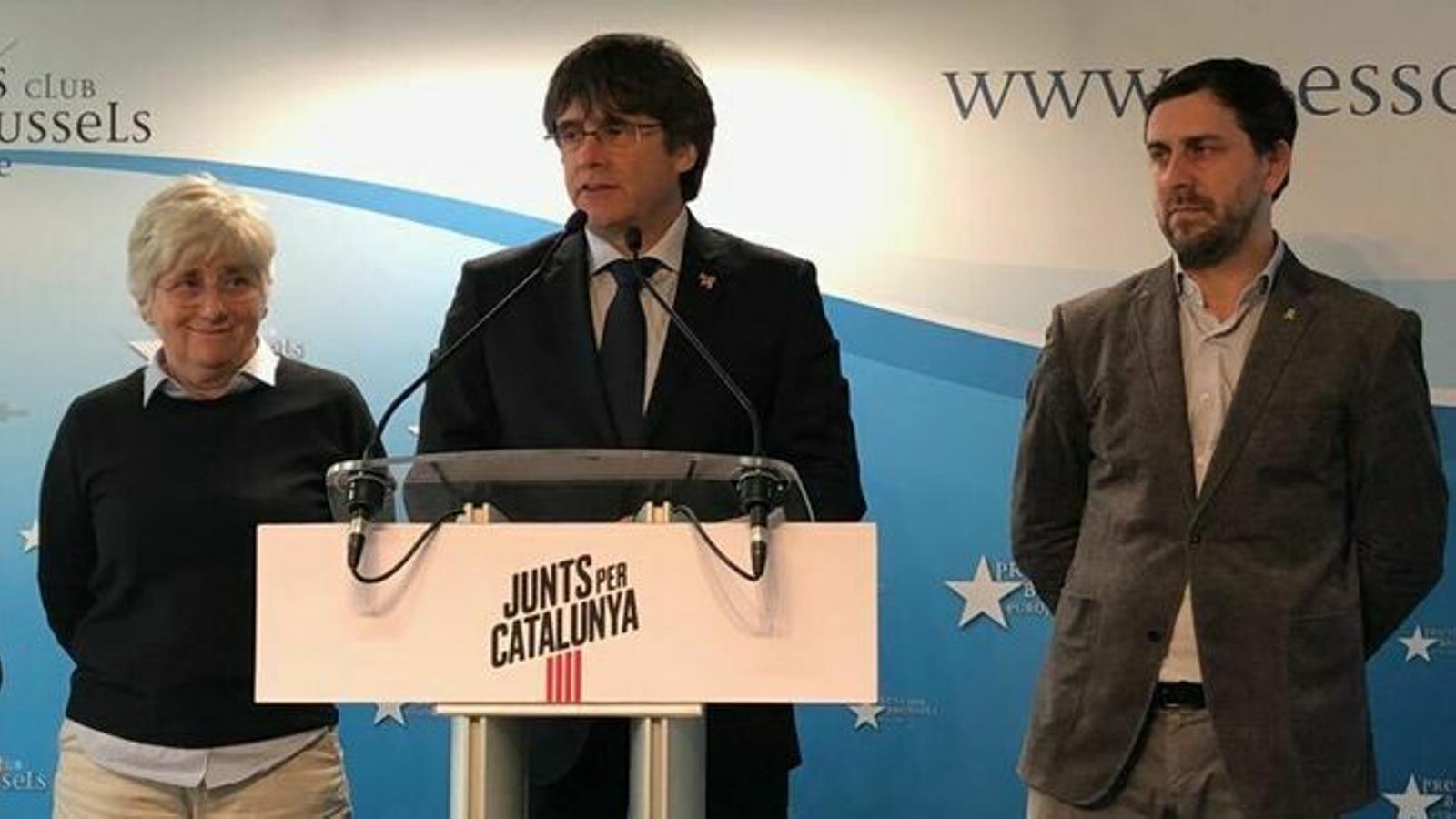 Un grup d'eurodiputats denuncien a la Defensora del Poble Europeu la prohibició de l'Eurocambra a Puigdemont i Comín