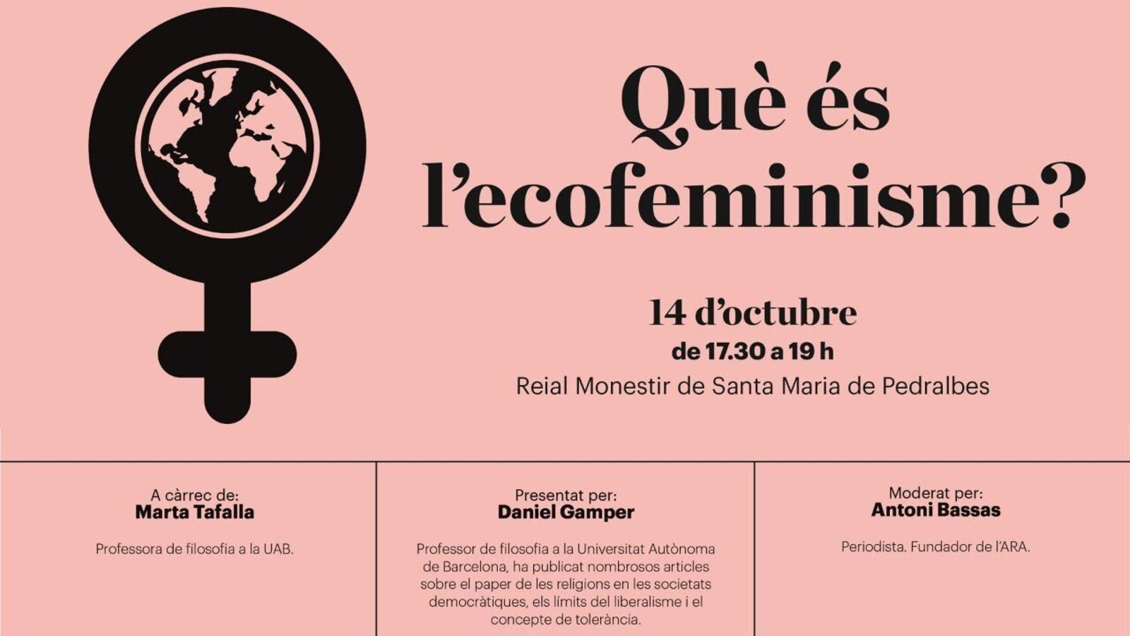 EN DIRECTE   Diàlegs de Pedralbes: què és l'ecofeminisme?