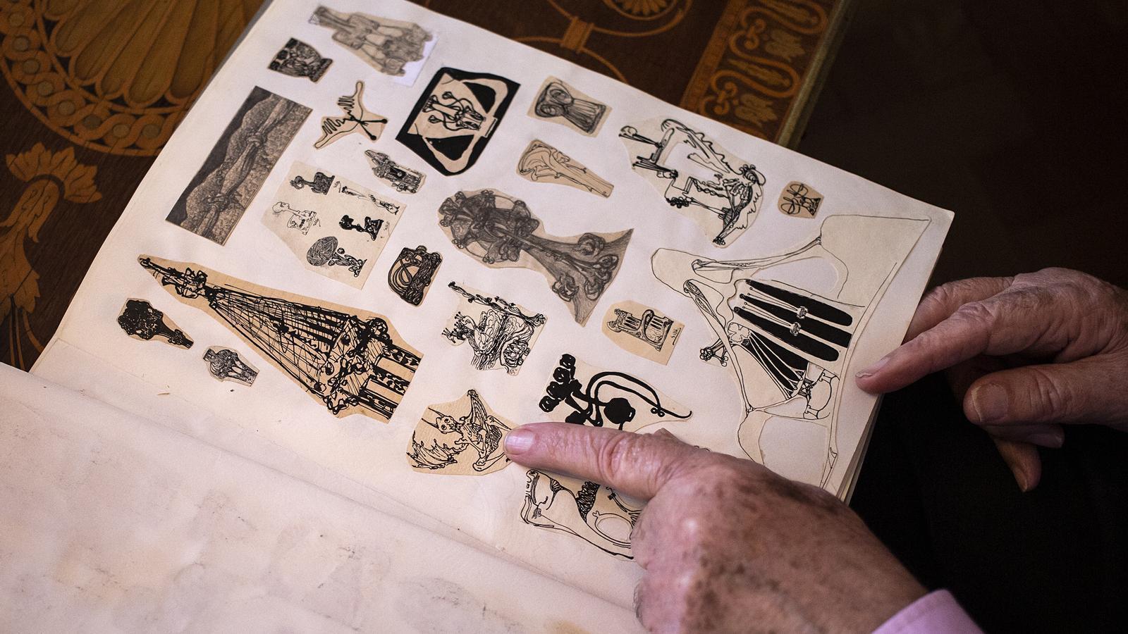 Detall de l'àlbum de croquis de Manuel Sayrach / CÈLIA ATSET