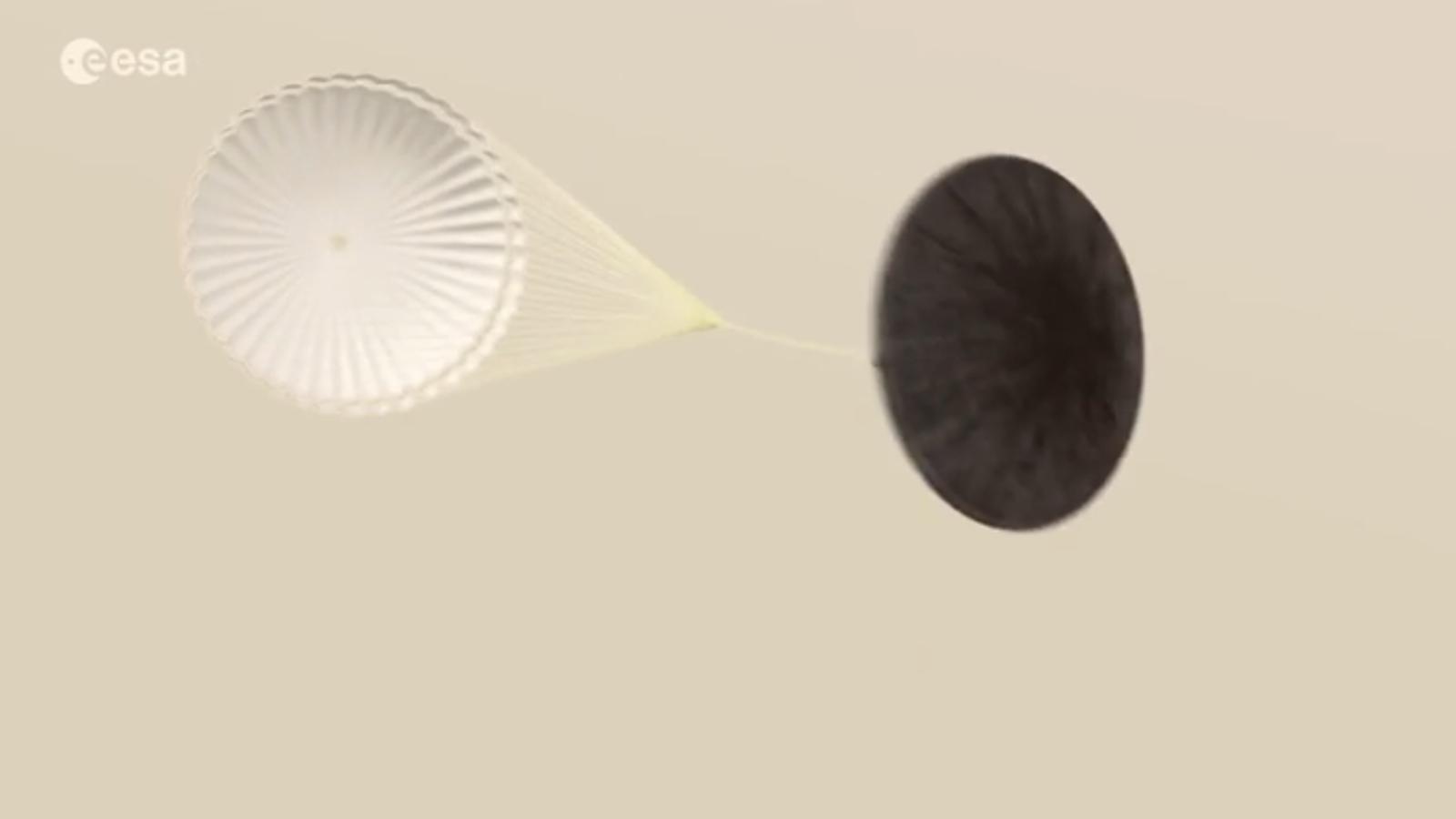 Simulació de l'entrada del vehicle a Mart / ESA