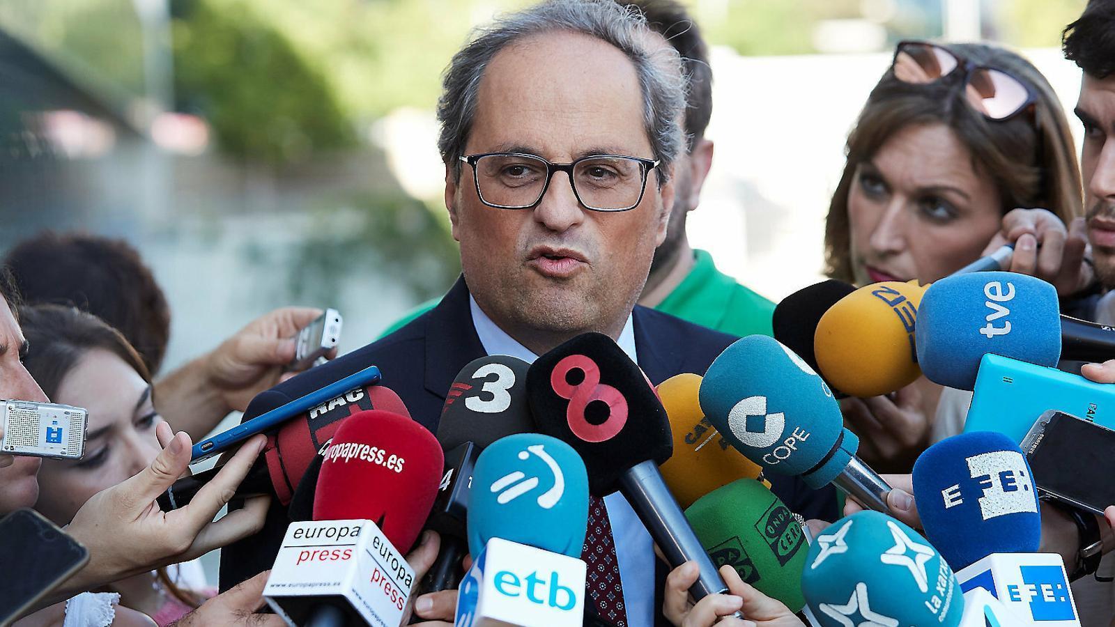El president de la Generalitat, Quim Torra,  en una imatge recent.