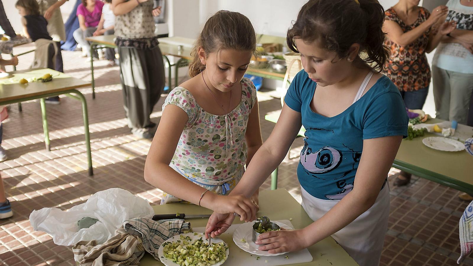 El producte local representa el 60% dels menús escolars a Menorca
