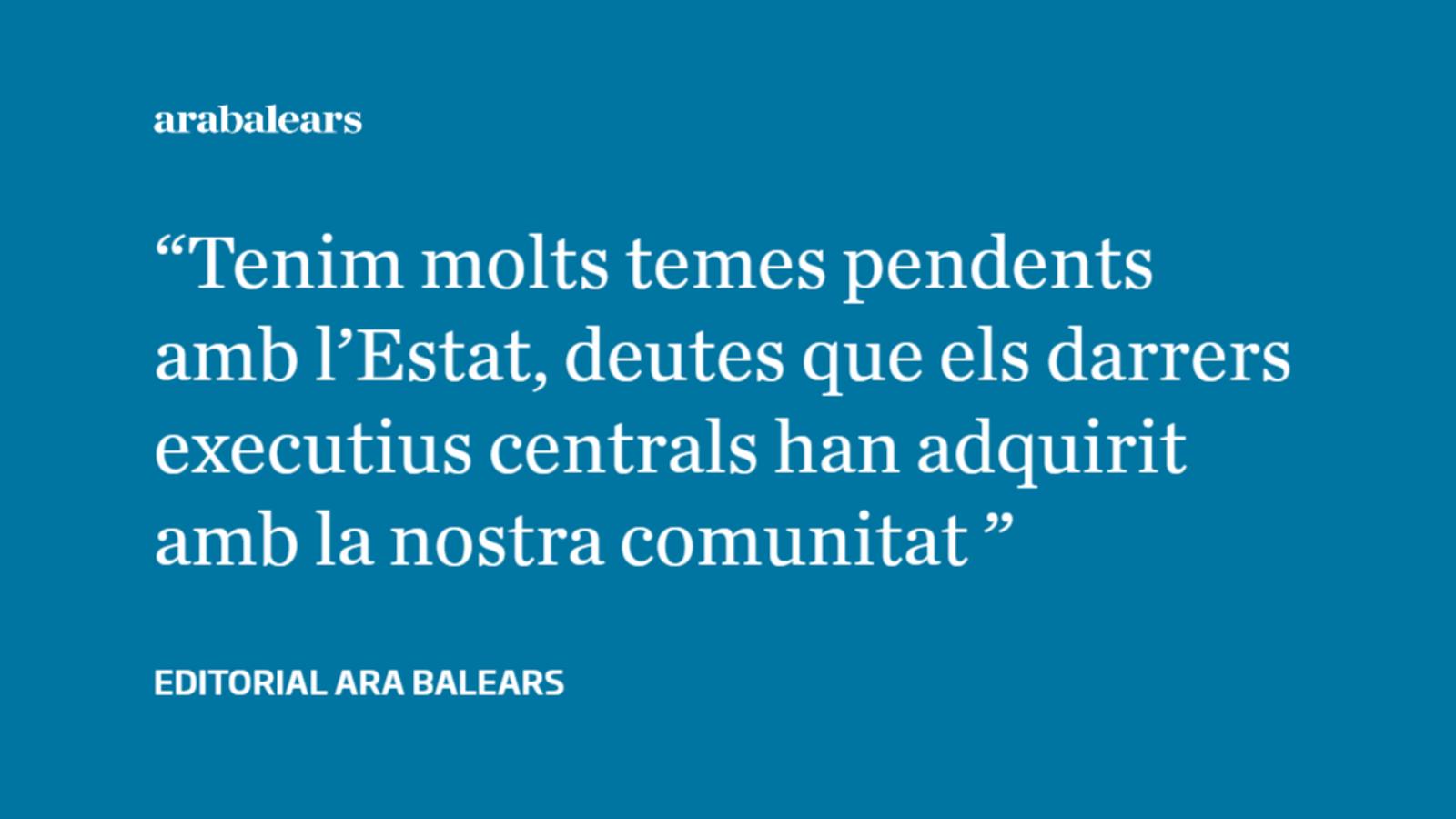 El 10-N i els grans deutes pendents de l'Estat amb les Balears