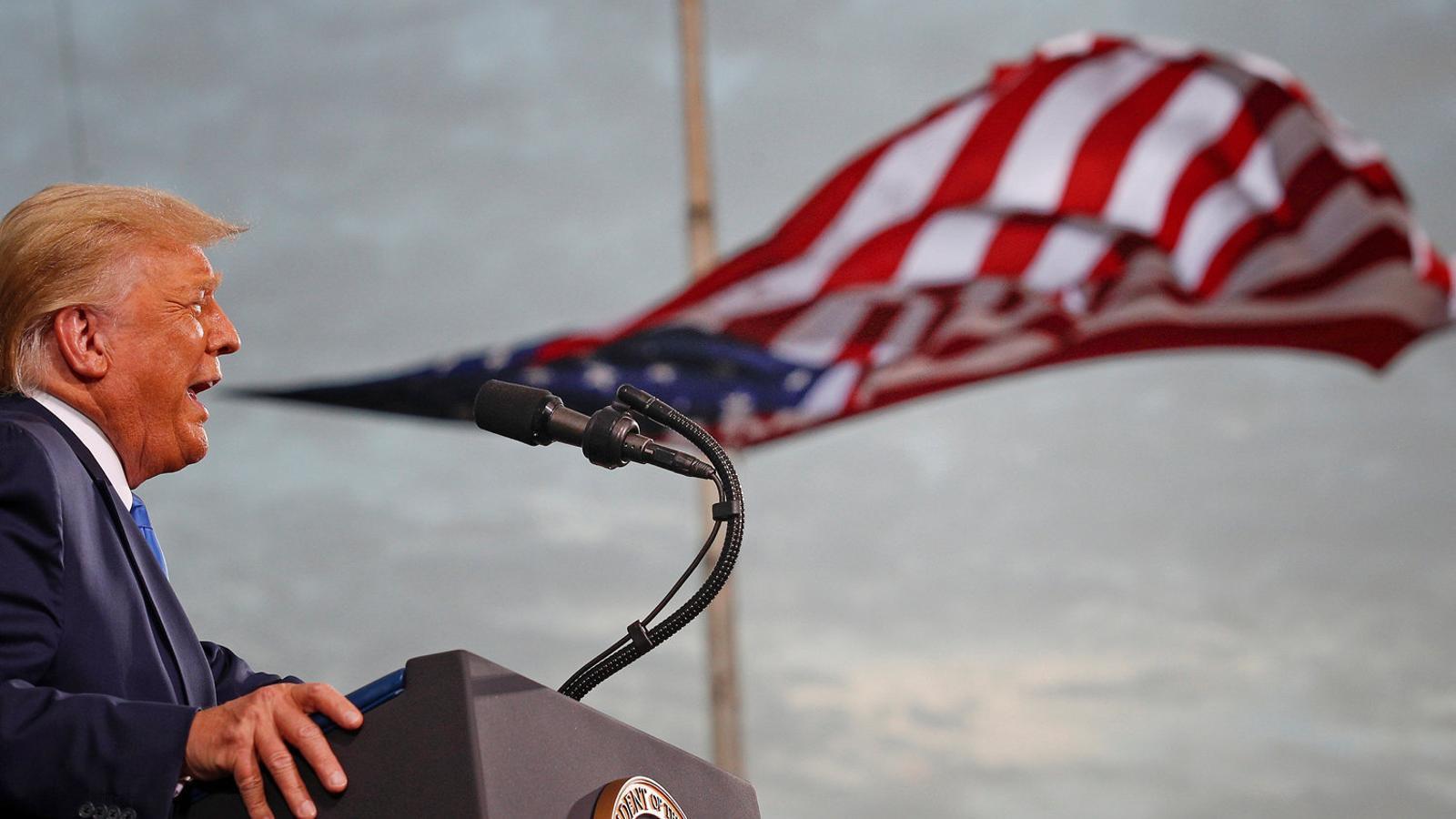 El president dels Estats Units, Donald Trump,  en un míting  de campanya per la seva reelecció, dijous passat a Jacksonville, a Florida, un dels estats clau.