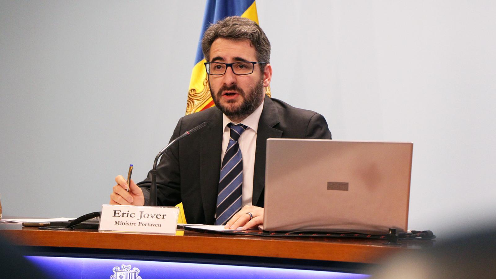El ministre de Finances i Portaveu, Eric Jover. / M. P.