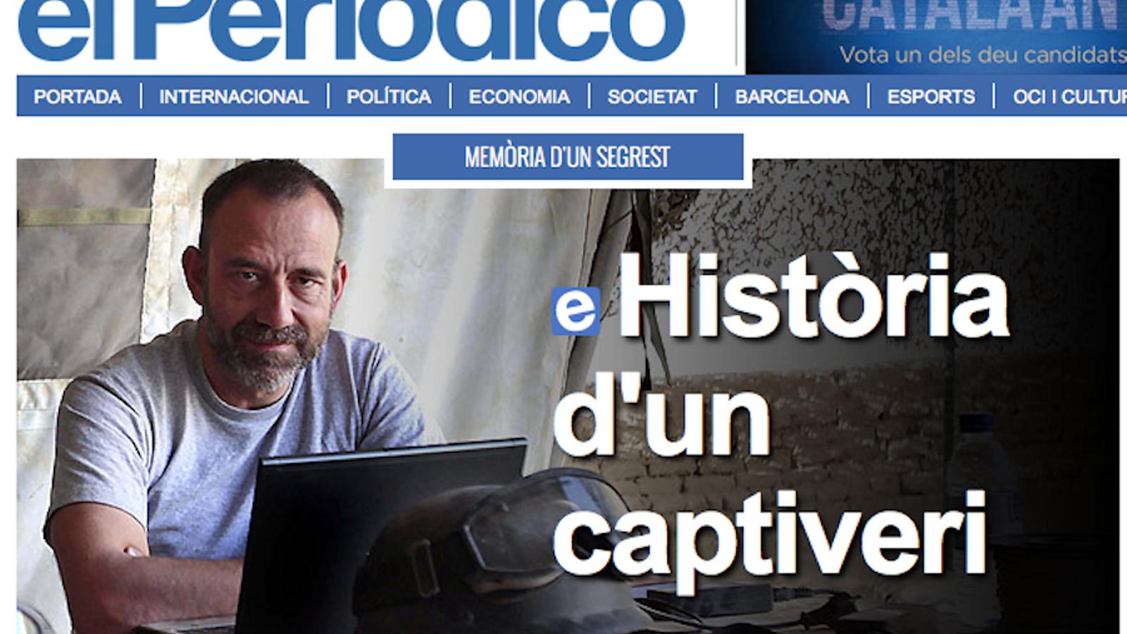 Captura de la crònica del segrest de Marc Marginedas a la web d''El Periódico' / ARA