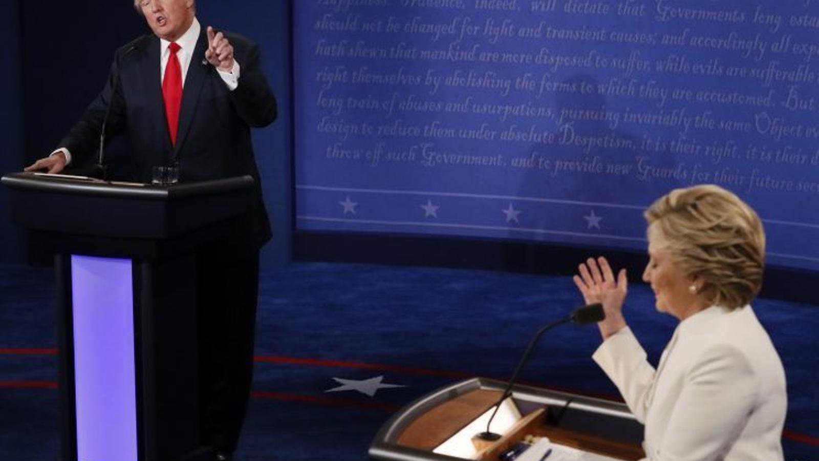 Trump rebutja dir si acceptarà els resultats presidencials en l'últim debat