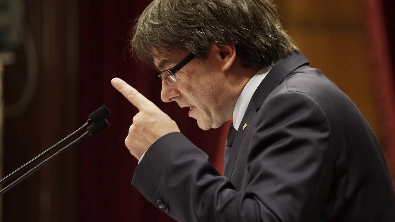 """""""O referèndum, o referèndum"""" i altres 'hits' de Puigdemont en la qüestió de confiança"""