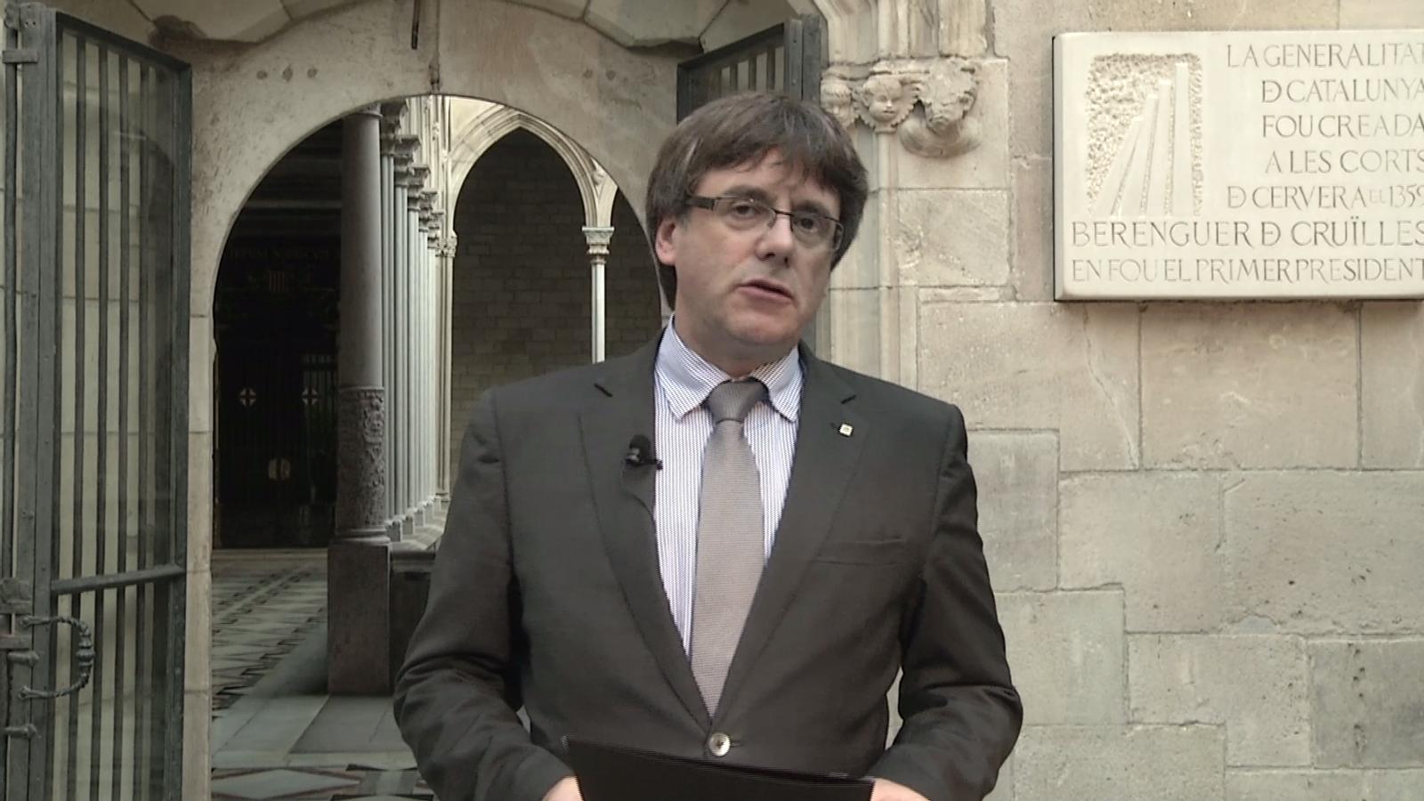 Missatge de Carles Puigdemont