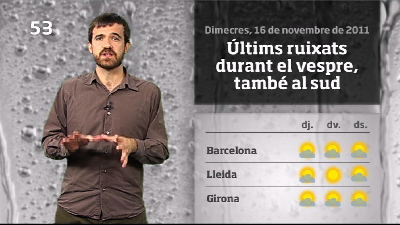 La méteo en 1 minut: s'acaben les pluges (17/11/2011)