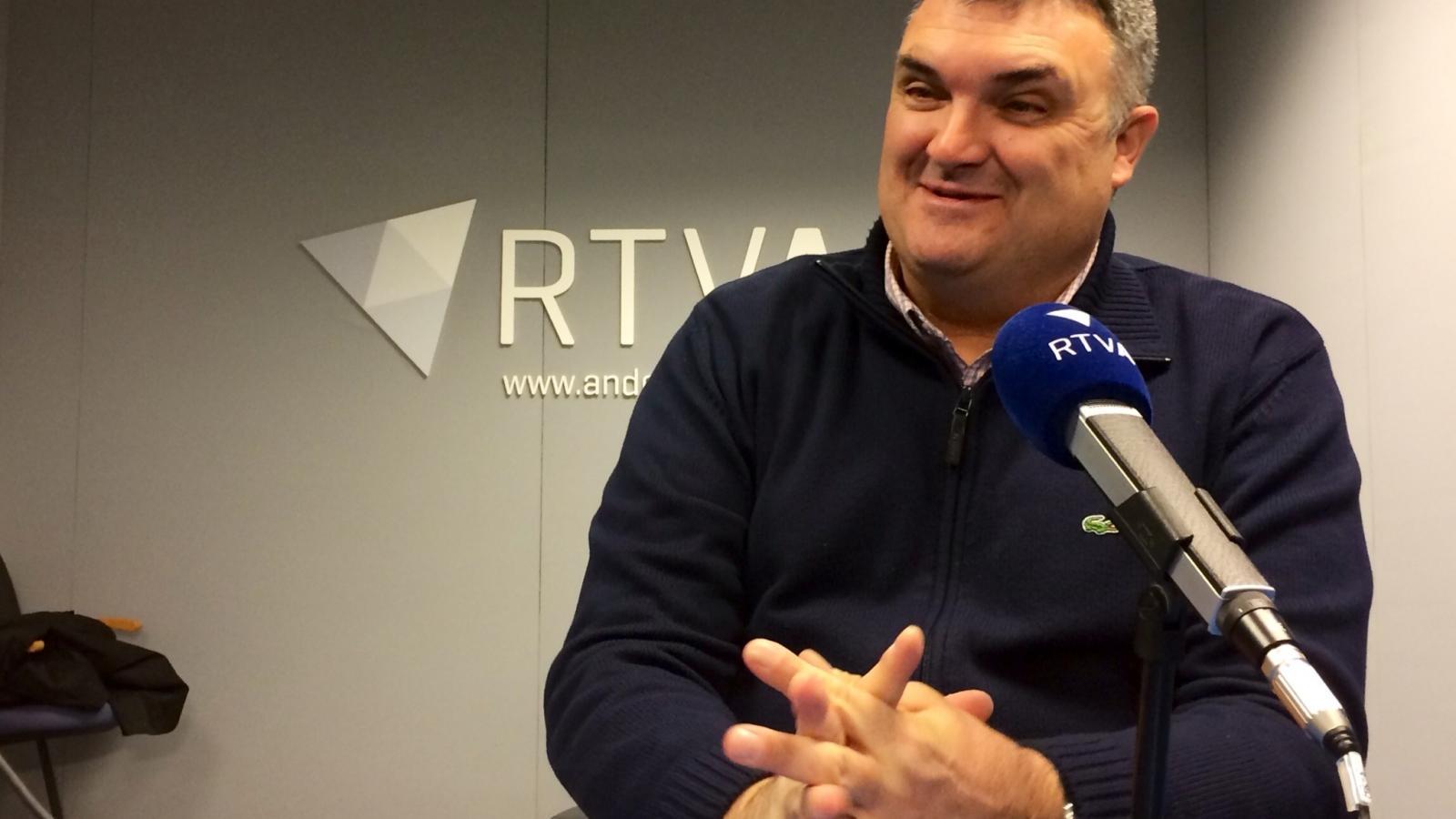 Albert Casal en una entrevista a Ràdio Nacional d'Andorra. / ANDORRA DIFUSIÓ