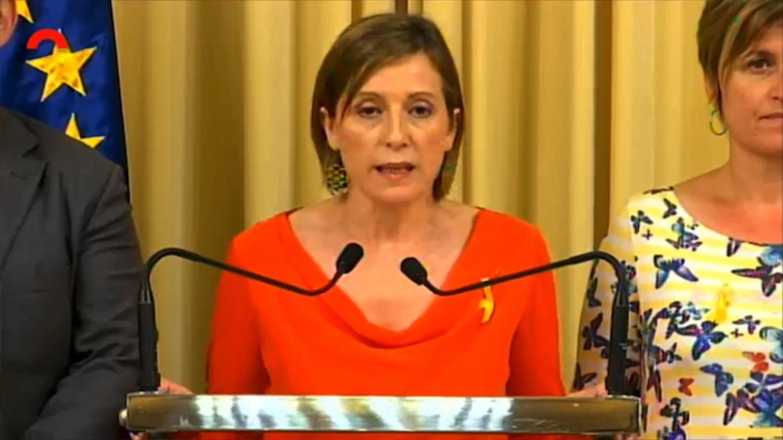 Forcadell es compromet a defensar la sobirania del Parlament