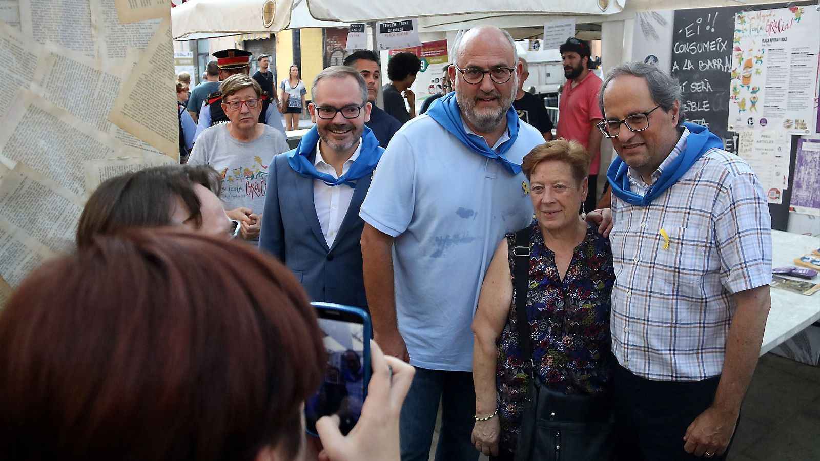El president de la Generalitat, Quim Torra, ahir a les Festes de Gràcia.