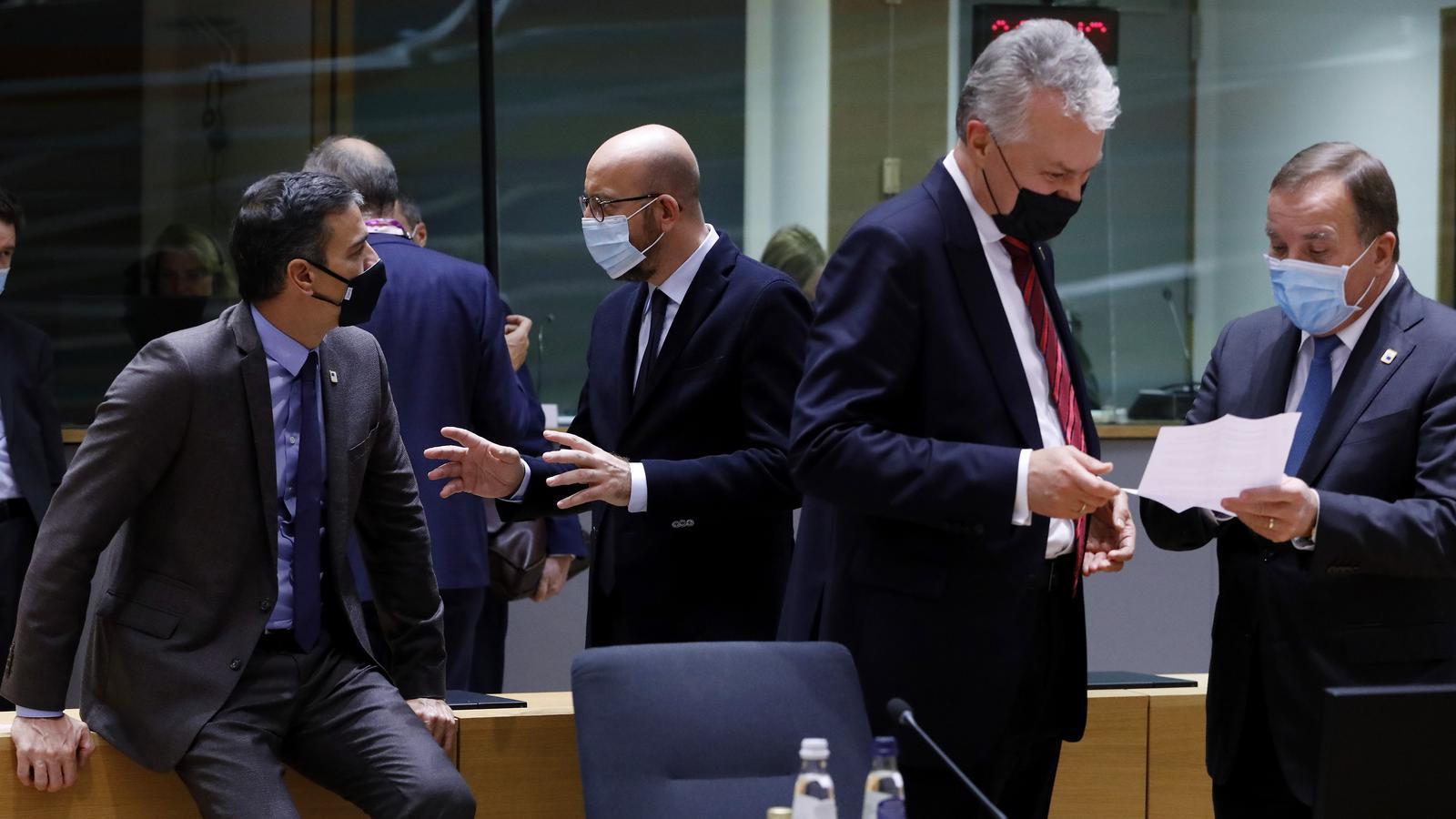 Els líders europeus durant la cimera aquesta setmana a Brussel·les.