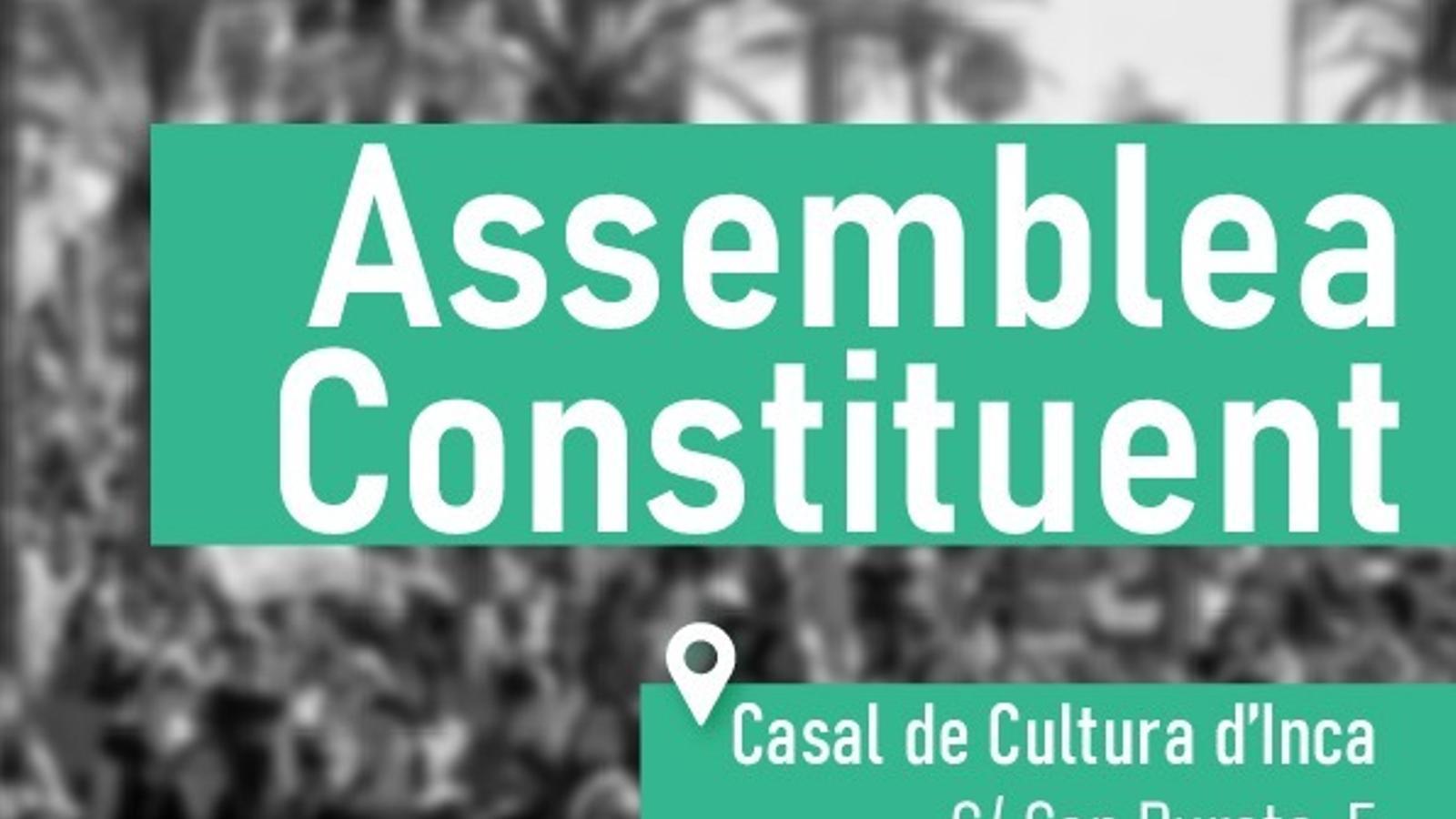 Cartell de l'acte de l'Assemblea Constituent de Mallorca Nova.