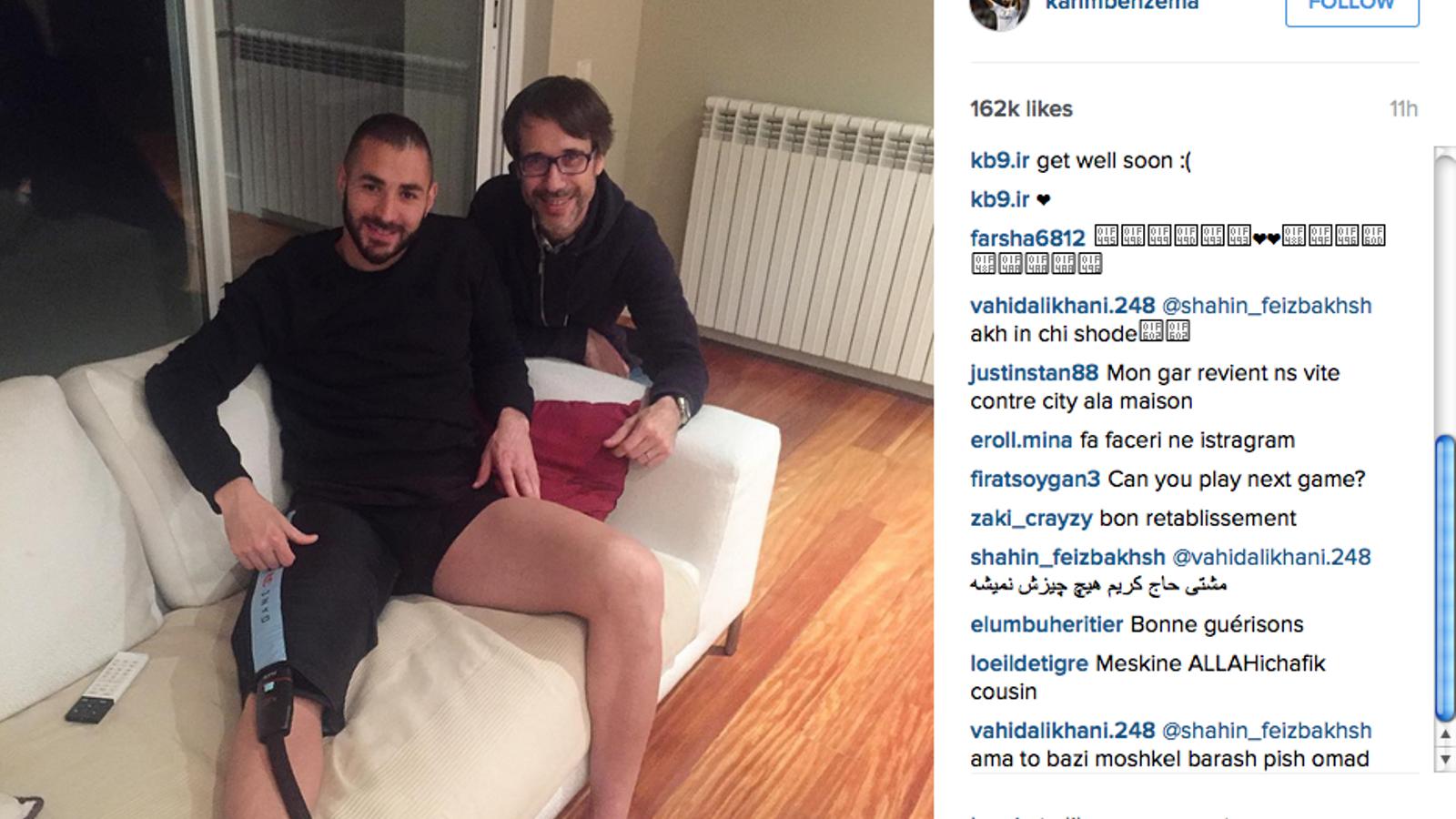 Karim Benzema i el fisioterapeuta Juan Muro