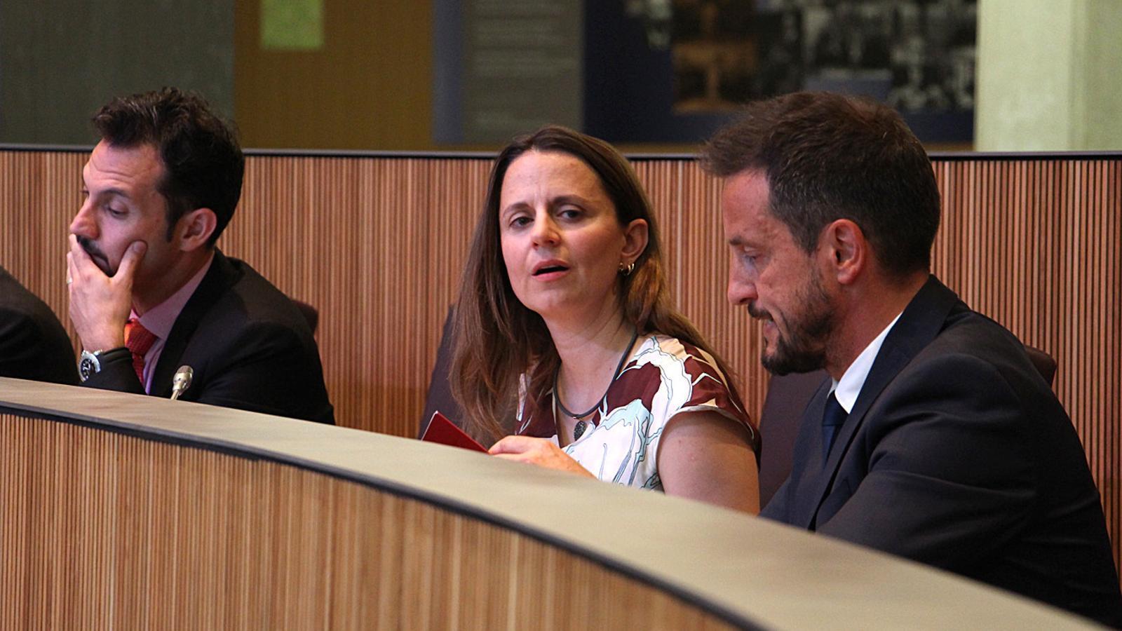 Els consellers generals del PS, Gerard Alís, Rosa Gili i Pere López
