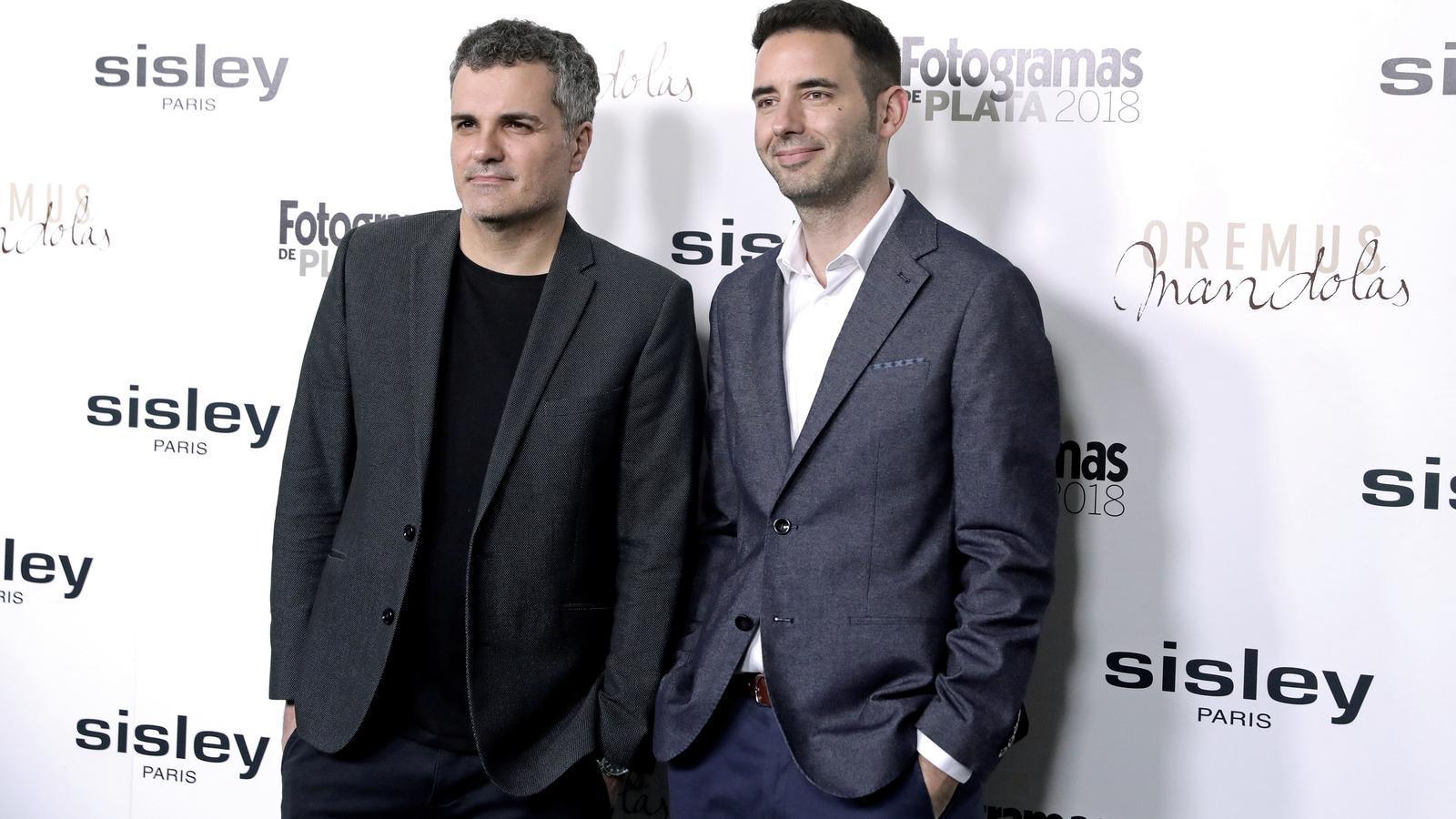 "Els productors d' ""Elit"" Carlos Montero i Darío Madrona"
