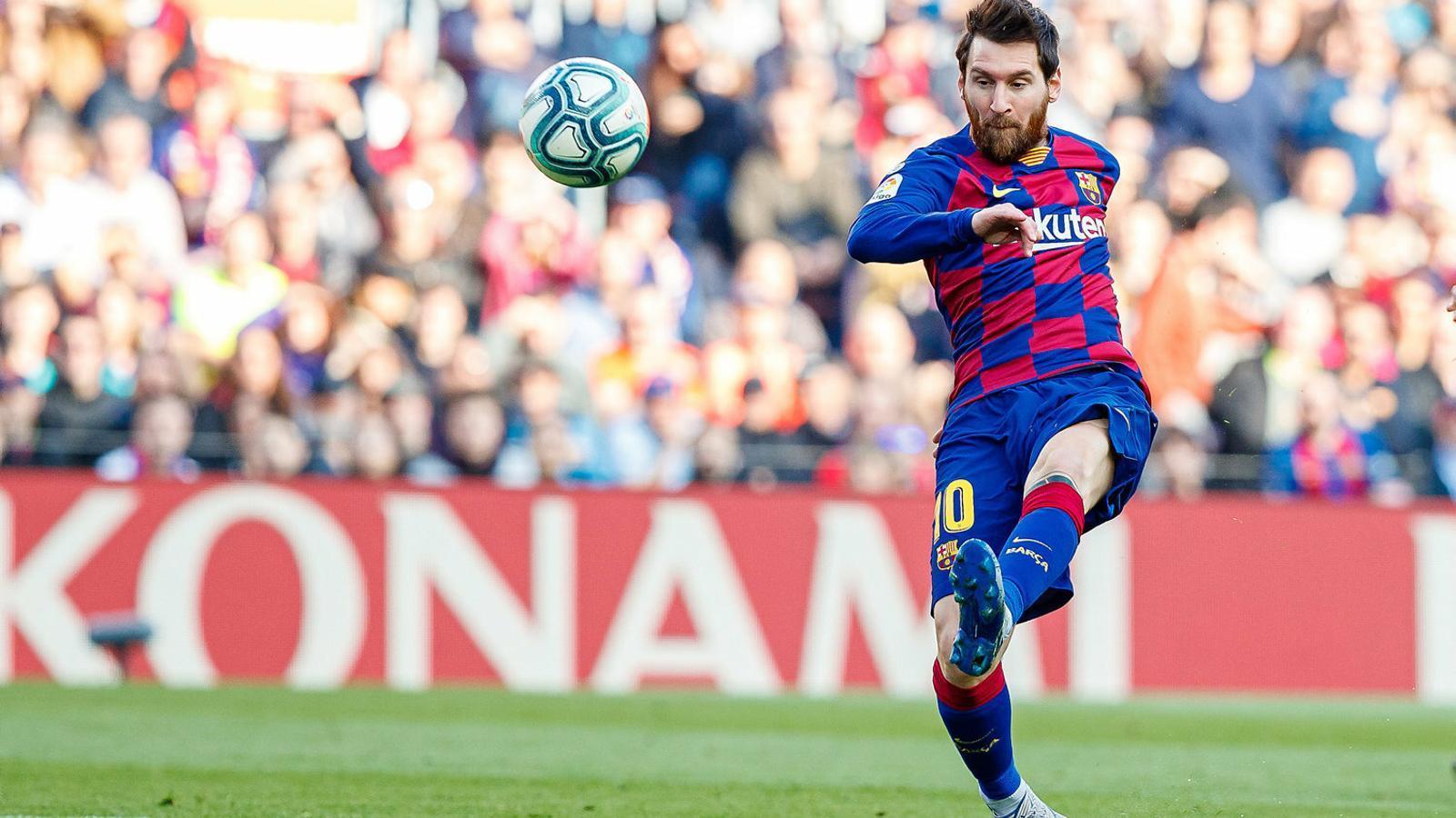 Leo Messi, davanter del Barça, durant el partit contra el Getafe.