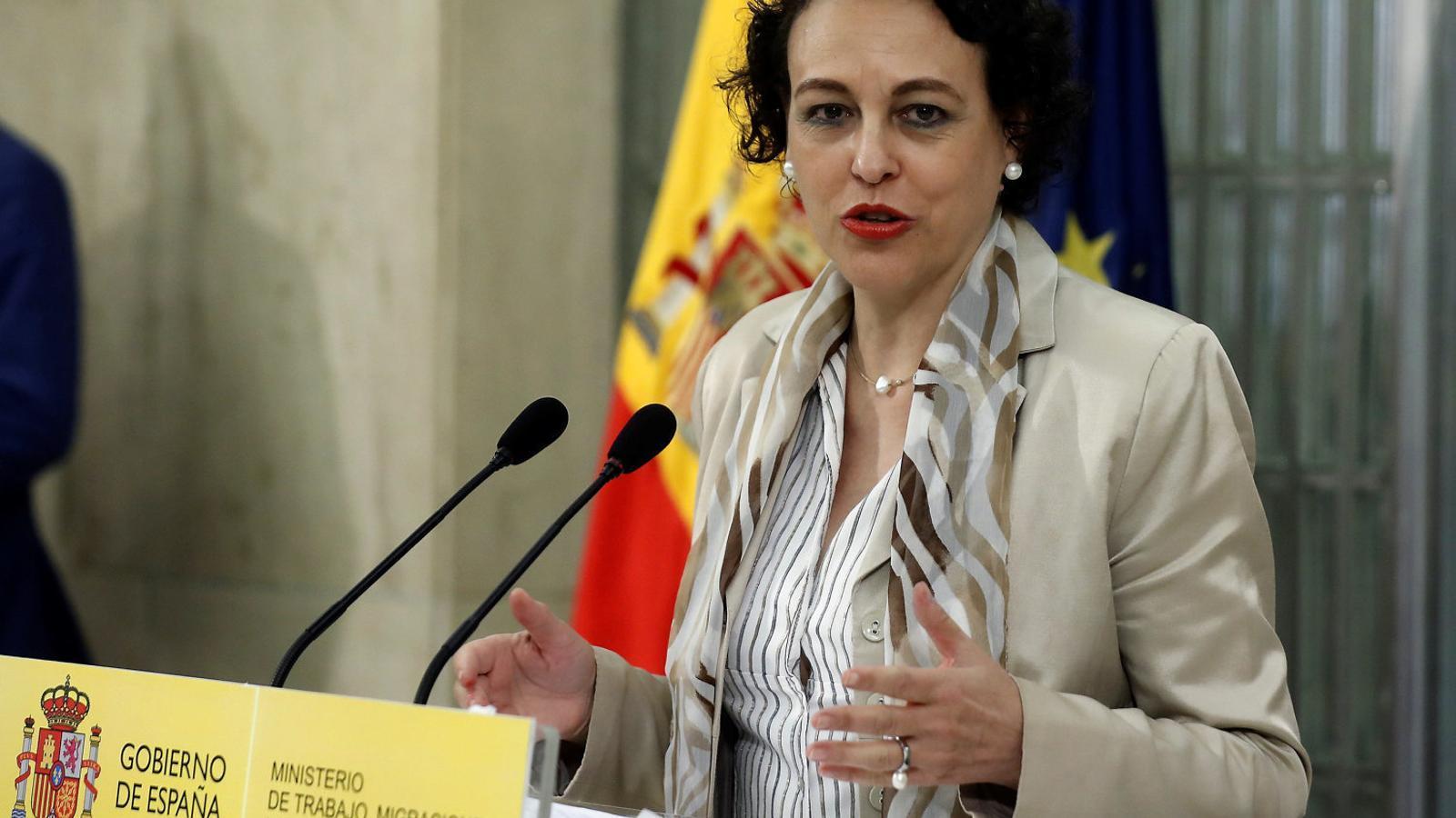 La ministra de Treball i Afers Socials, Magdalena Valerio.