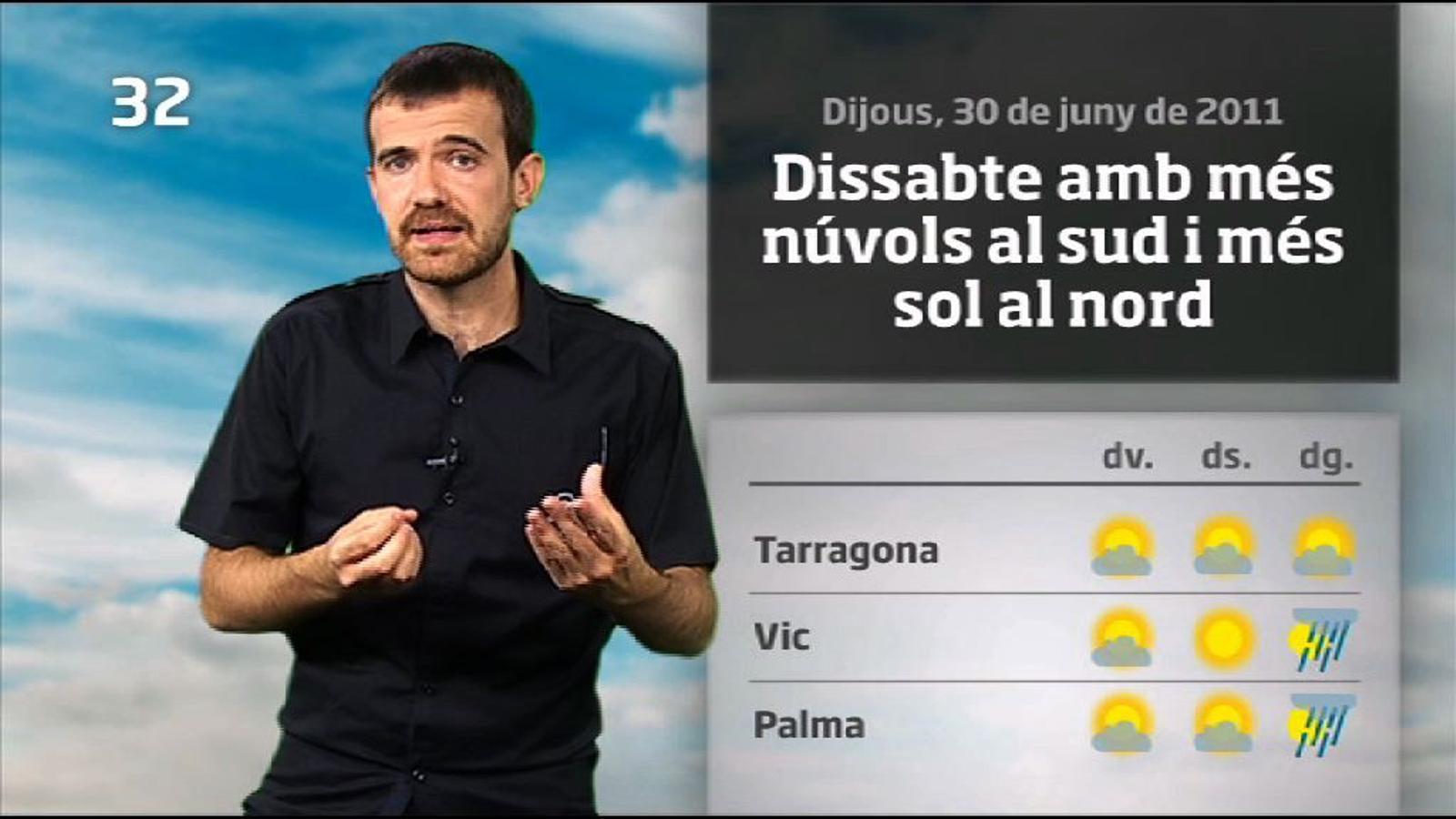 La méteo en 1 minut: canvi de temps diumenge (30/06/2011)