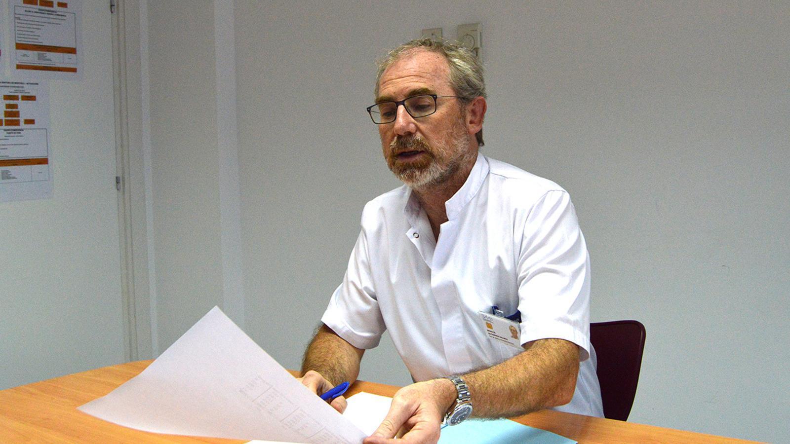 El cap d'Urgències, Marcos Gutiérrez. / M. F. (ANA)