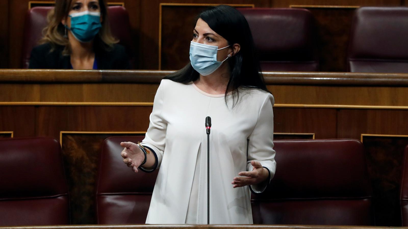 La portaveu adjunta de Vox al Congrés, Macarena Olona, ha replicat al diputat socialista Odón Elorza, que ha vinculat el xat amb Santiago Abascal.