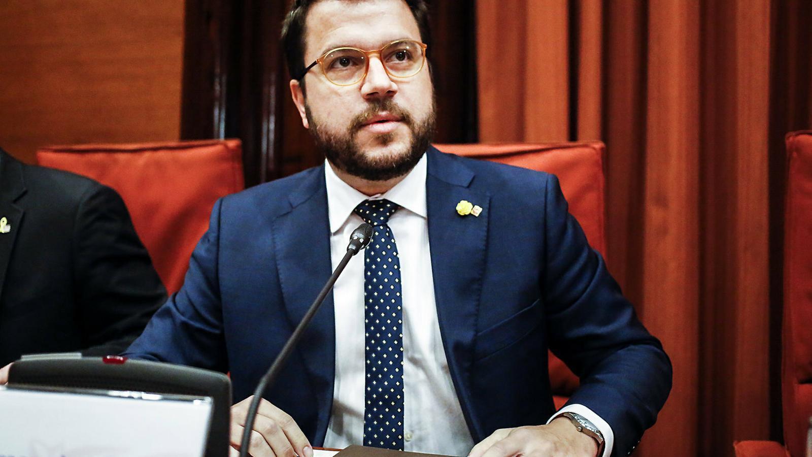 El vicepresident del Govern, Pere Aragonès, en una imatge d'arxiu al Parlament.