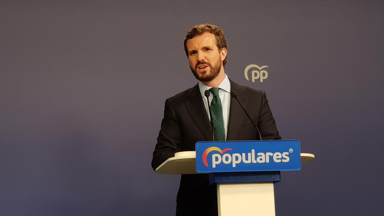 """El PP tanca la porta a col·laborar amb un govern """"d'esquerra radical"""" i Cs reclama un gran pacte sense Vox"""