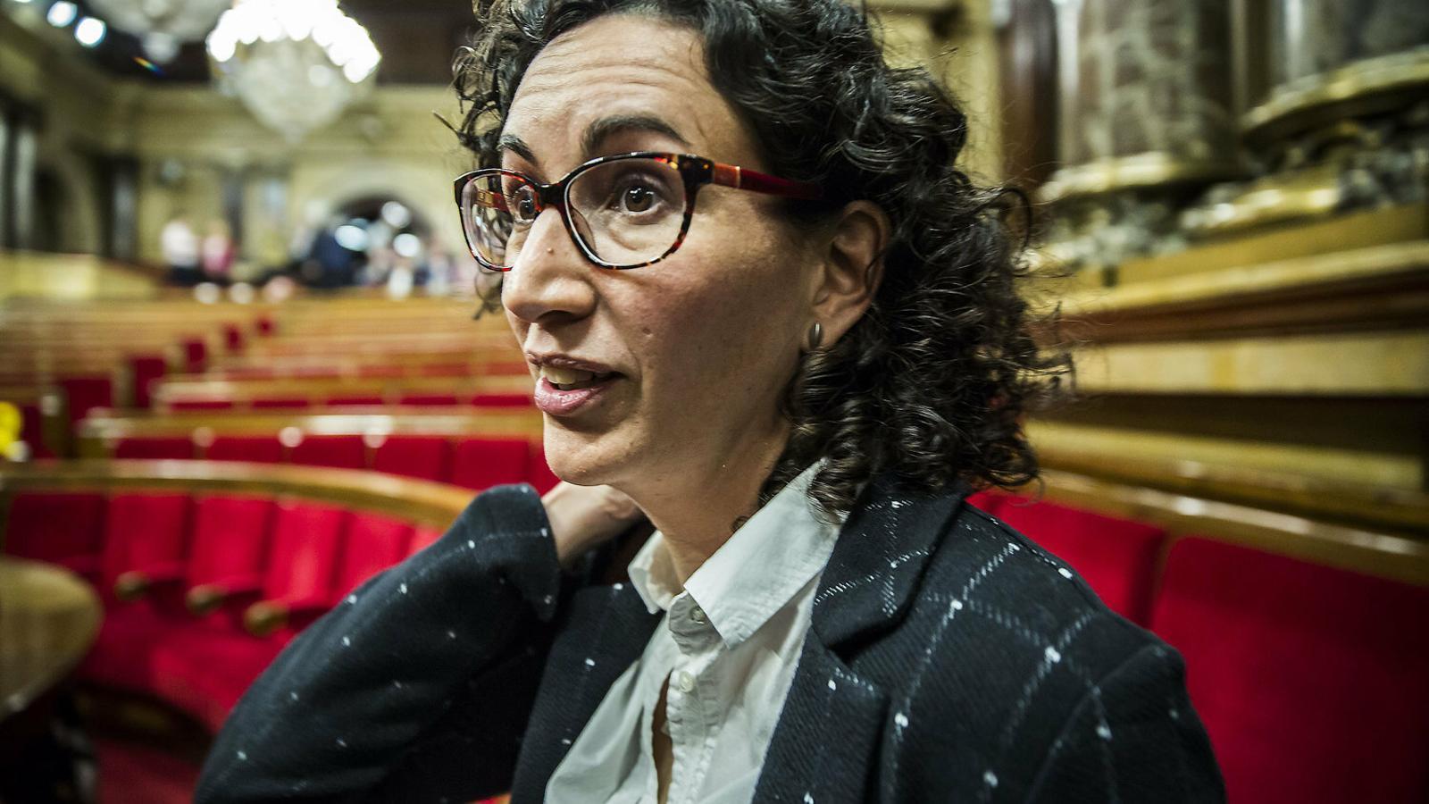 La secretària general d'ERC, Marta Rovira, al Parlament en una imatge d'arxiu.