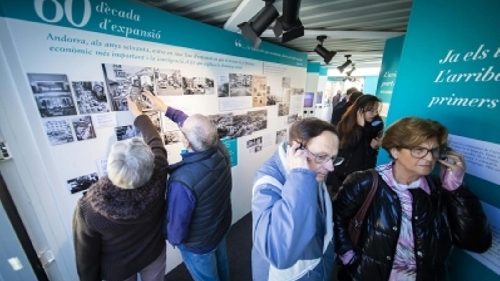 Una imatge de la mostra, que es va inaugurar coincidint amb la Fira d'Andorra la Vella. / COMÚ D'ANDORRA LA VELLA