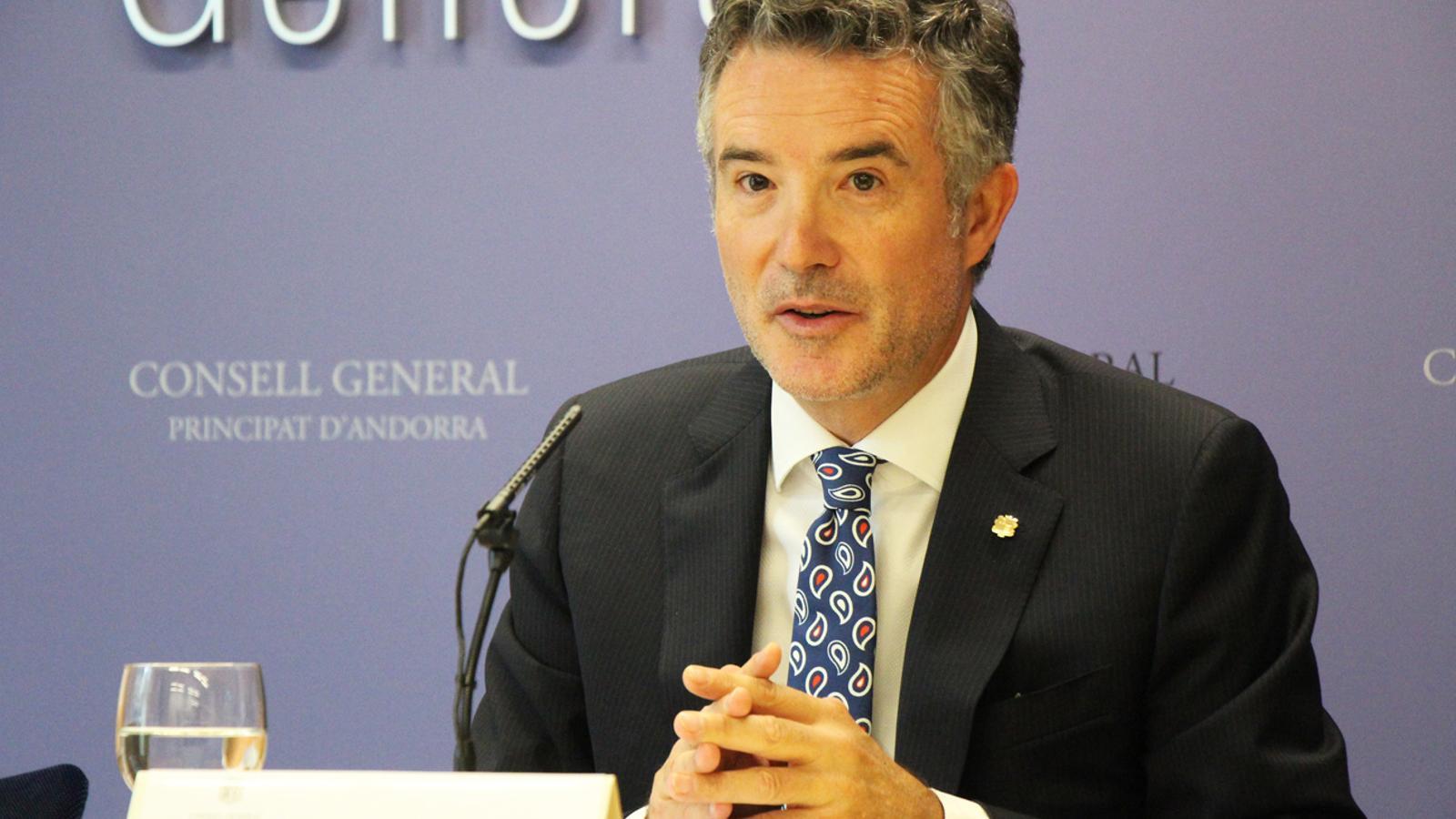 El síndic general, Vicenç Mateu, durant la presentació del Premi d'Innovació Educativa. / C.B. (ANA)