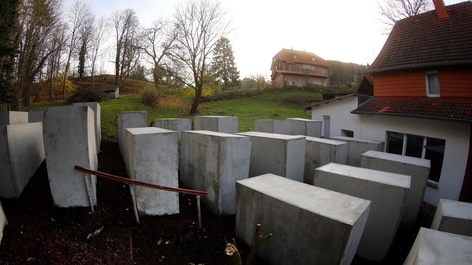 Imatge de la reproducció del monument en record de l'holocaust jueu a la ciutat de Bornhagen