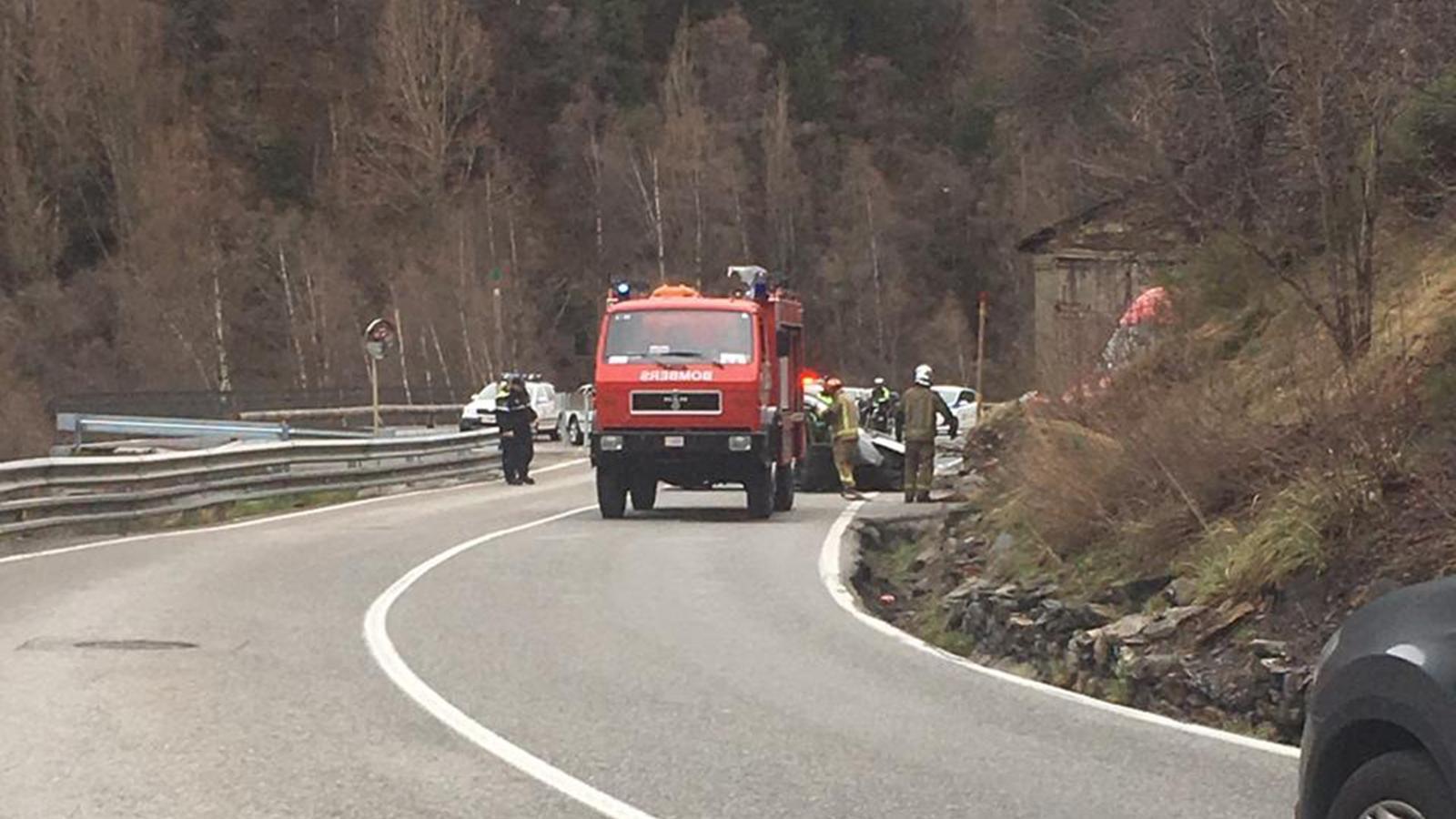 L'accident a l'Aldosa de Canillo. / M. T. (ANA)