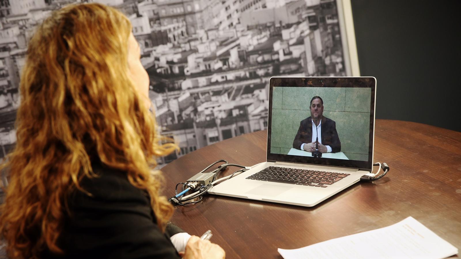 Entrevista d'Esther Vera a Oriol Junqueras