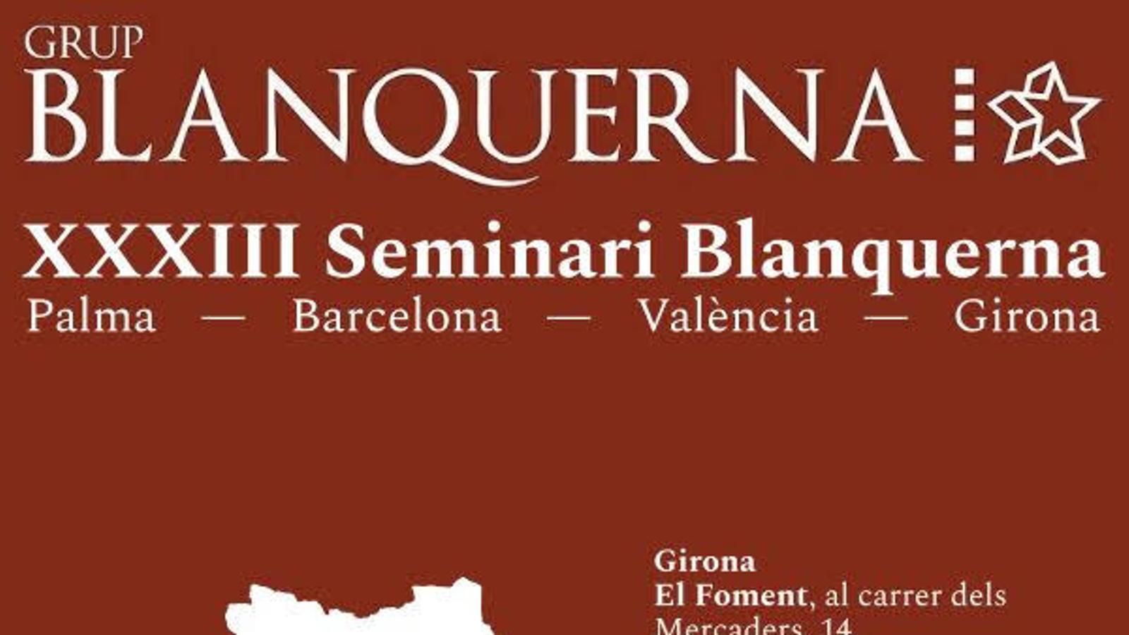Cartell de la XXXIII edició del Seminari Blanquerna