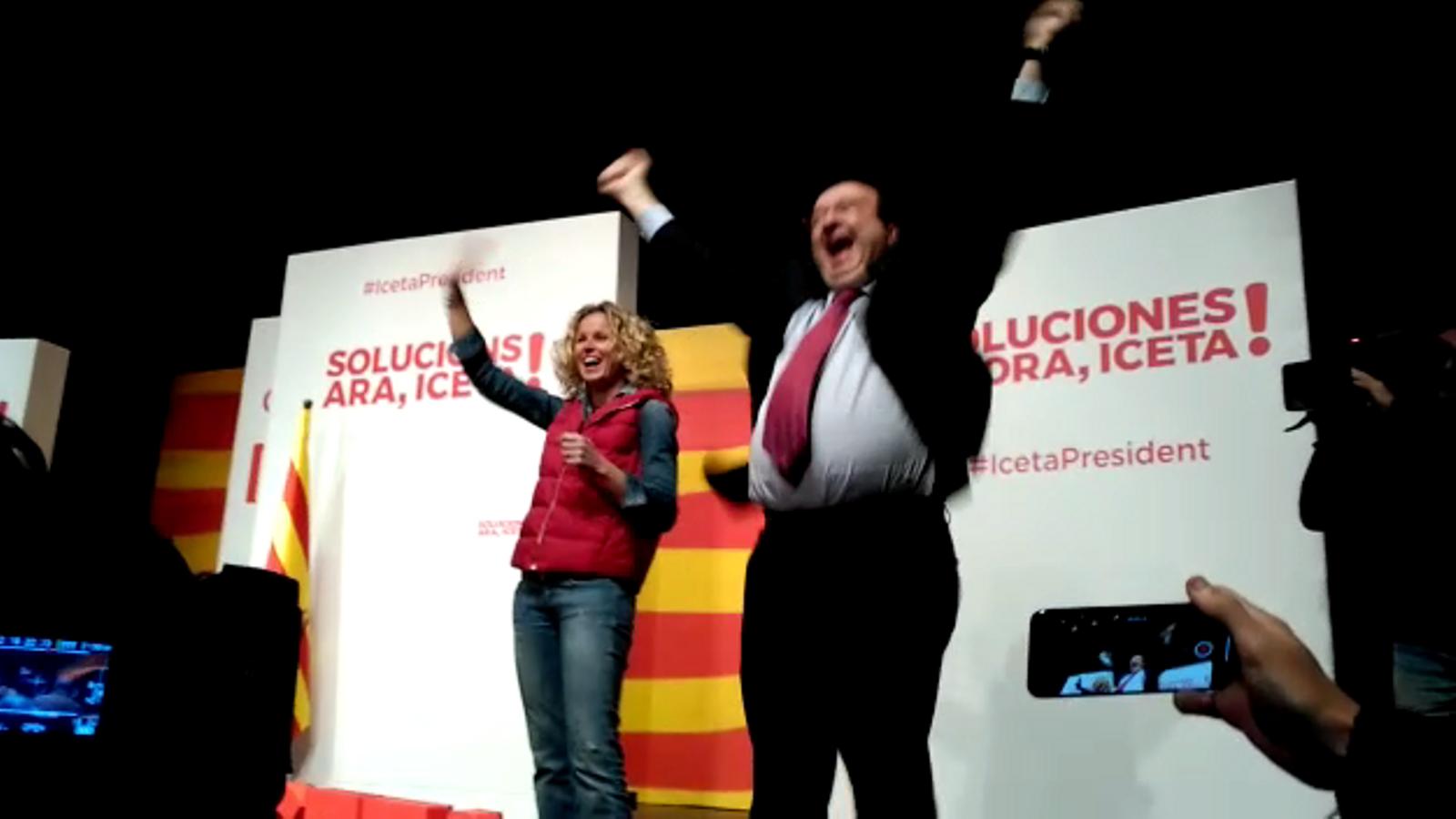 Iceta salta amb ímpetu a l'inici del míting del PSC a Lleida