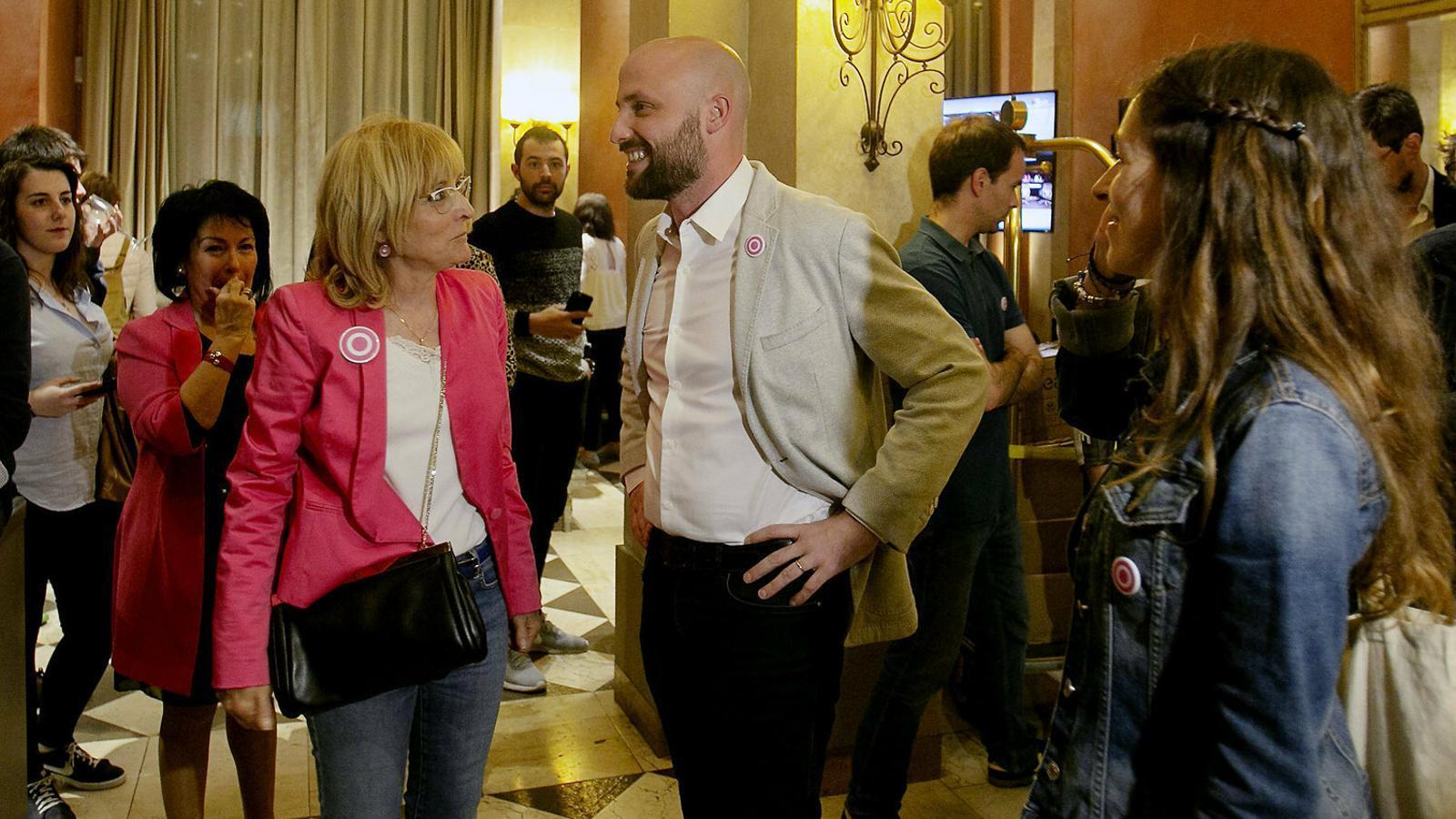 Jordi Graupera, durant la nit electoral de les últimes eleccions municipals, en què Primàries no va obtenir representació.