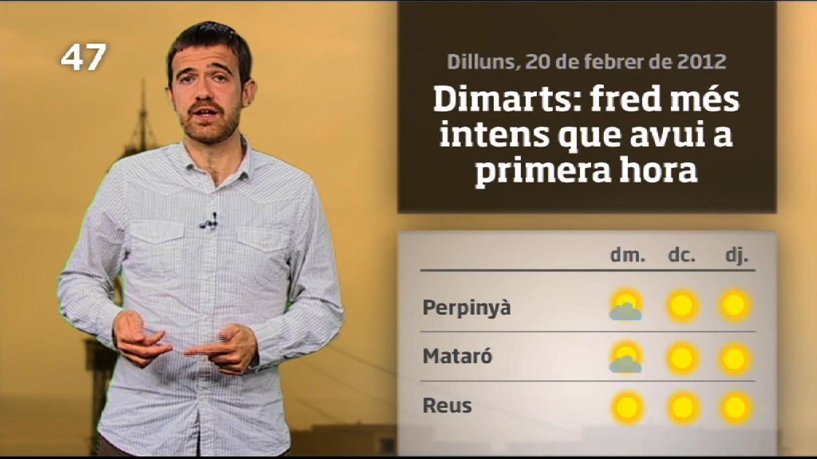 La méteo en 1 minut: pujada de temperatures a partir de dijous (21/02/12)