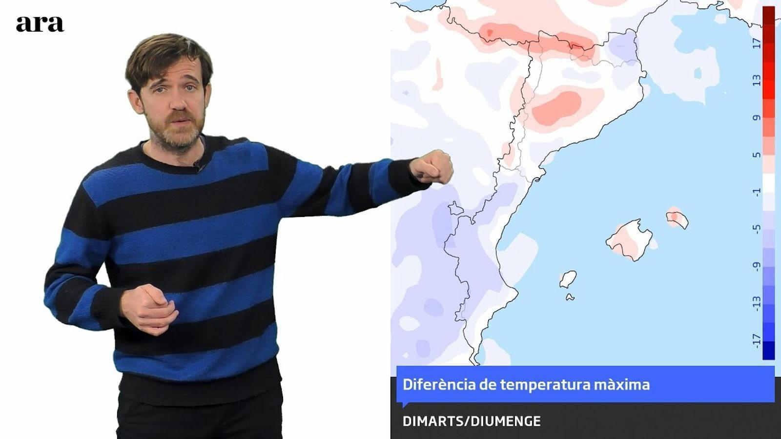 La méteo: temps poc fred i possibles pluges a llarg termini