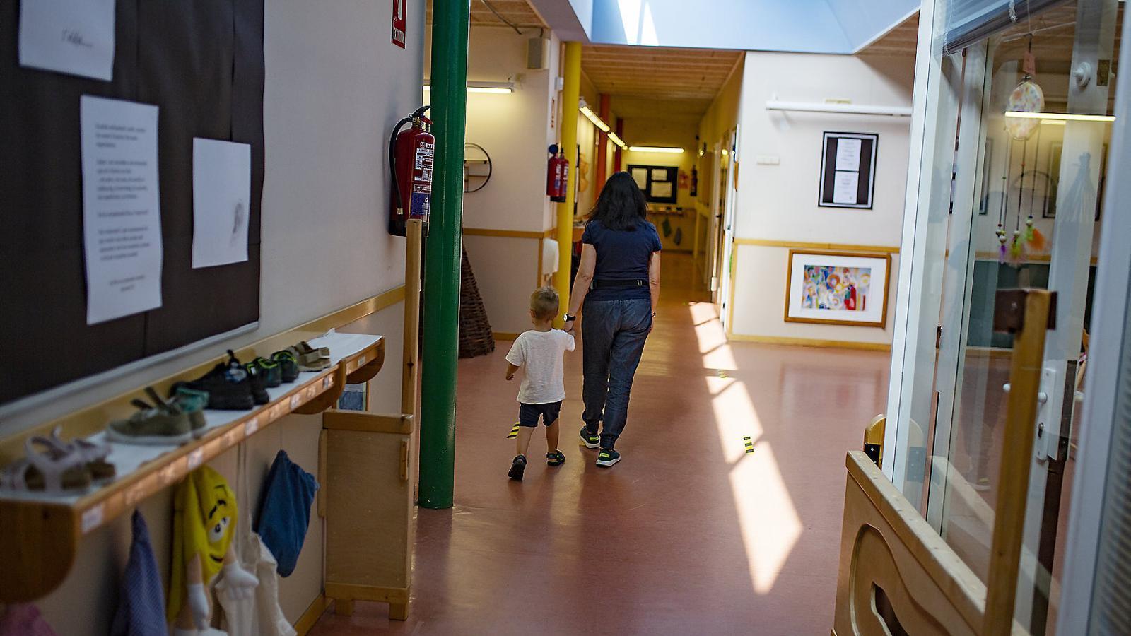 L'escola Bressol Quatre Torres durant la desescalada aplicava les noves normes de seguretat sanitària de la represa.