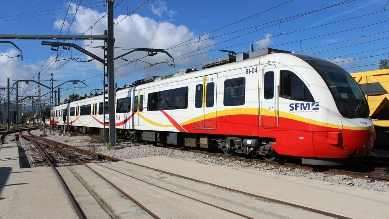 Un tren del SFM en una imatge d'arxiu