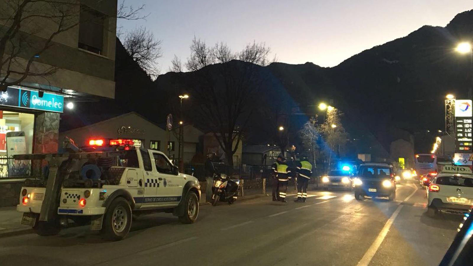 L'atropellament s'ha produït a l'avinguda Enclar de Santa Coloma / M. A.
