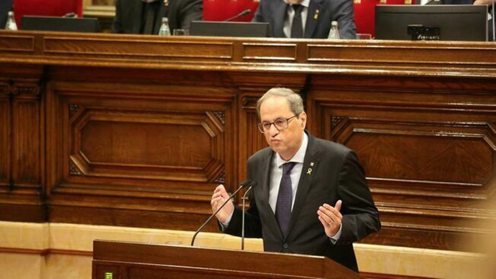 """Torra proposa tornar a """"exercir l'autodeterminació"""" en aquesta legislatura"""