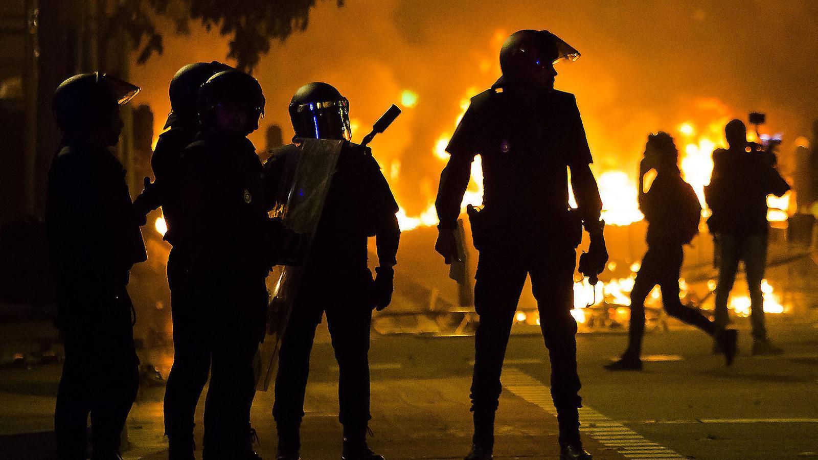 Una setmana en flames que va deixar més de 200 detinguts