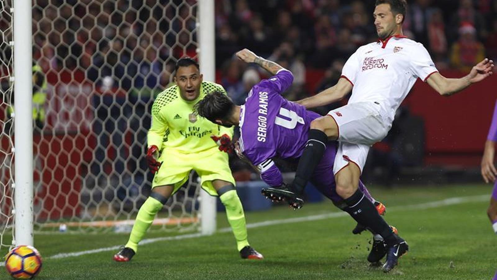 Sergio Ramos, contra el Sevilla